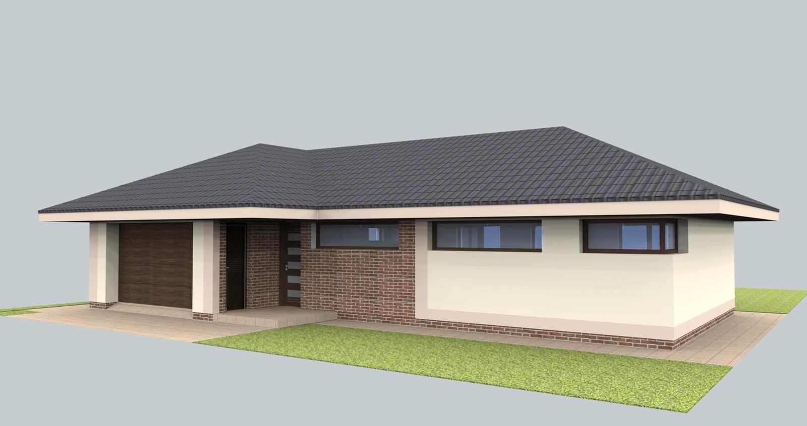 Prebiehajuce projekty - Návrh fasády bungalovu