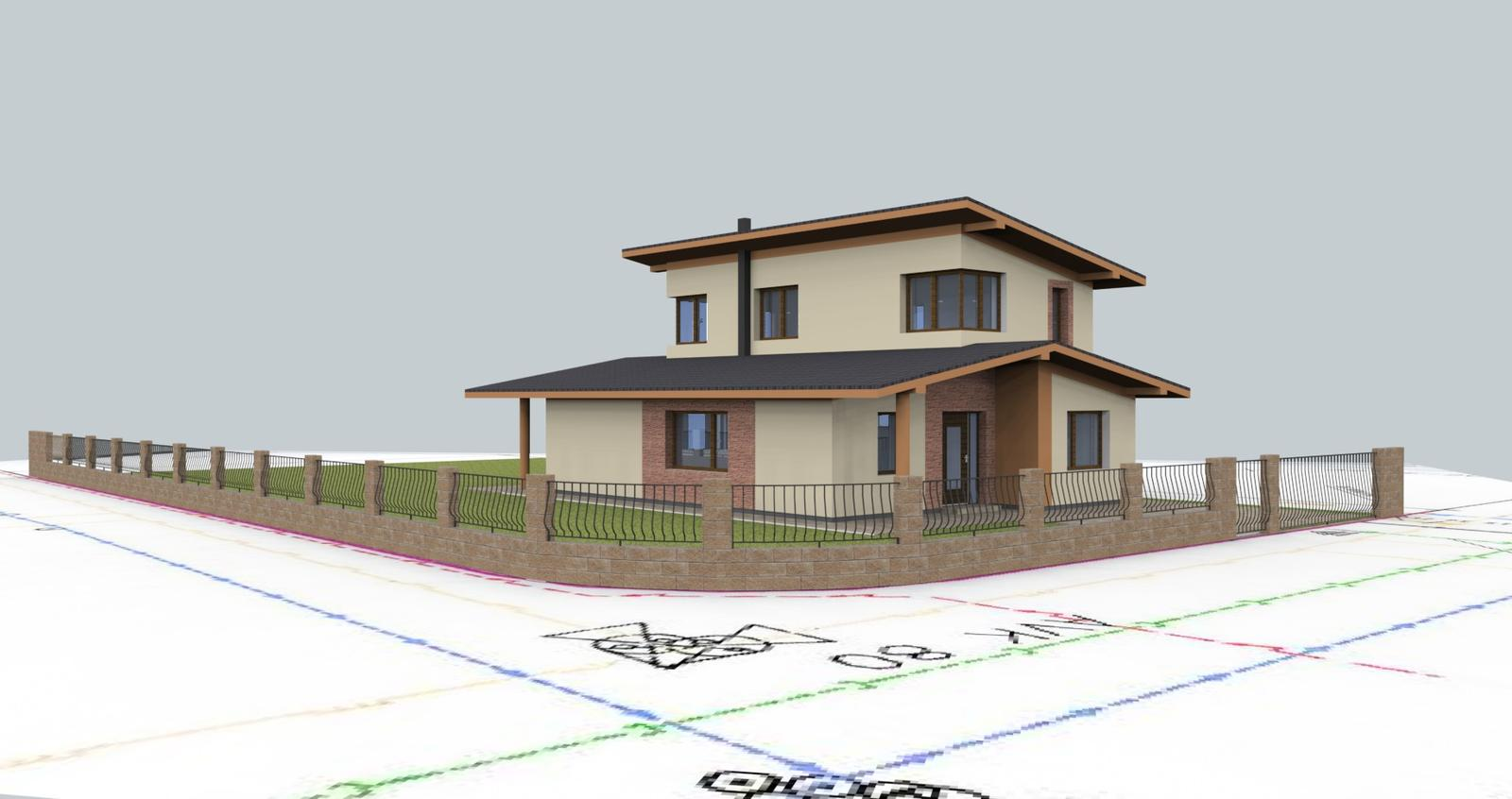 Prebiehajuce projekty - Návrh fasády s oplotením