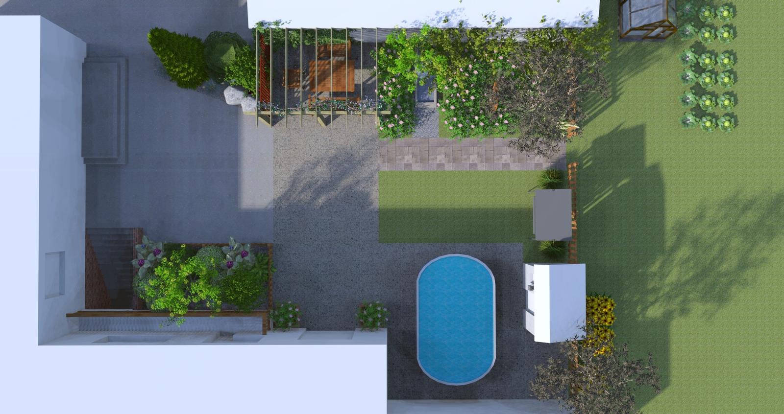 Prebiehajuce projekty - Návrh záhrady rodinného domu