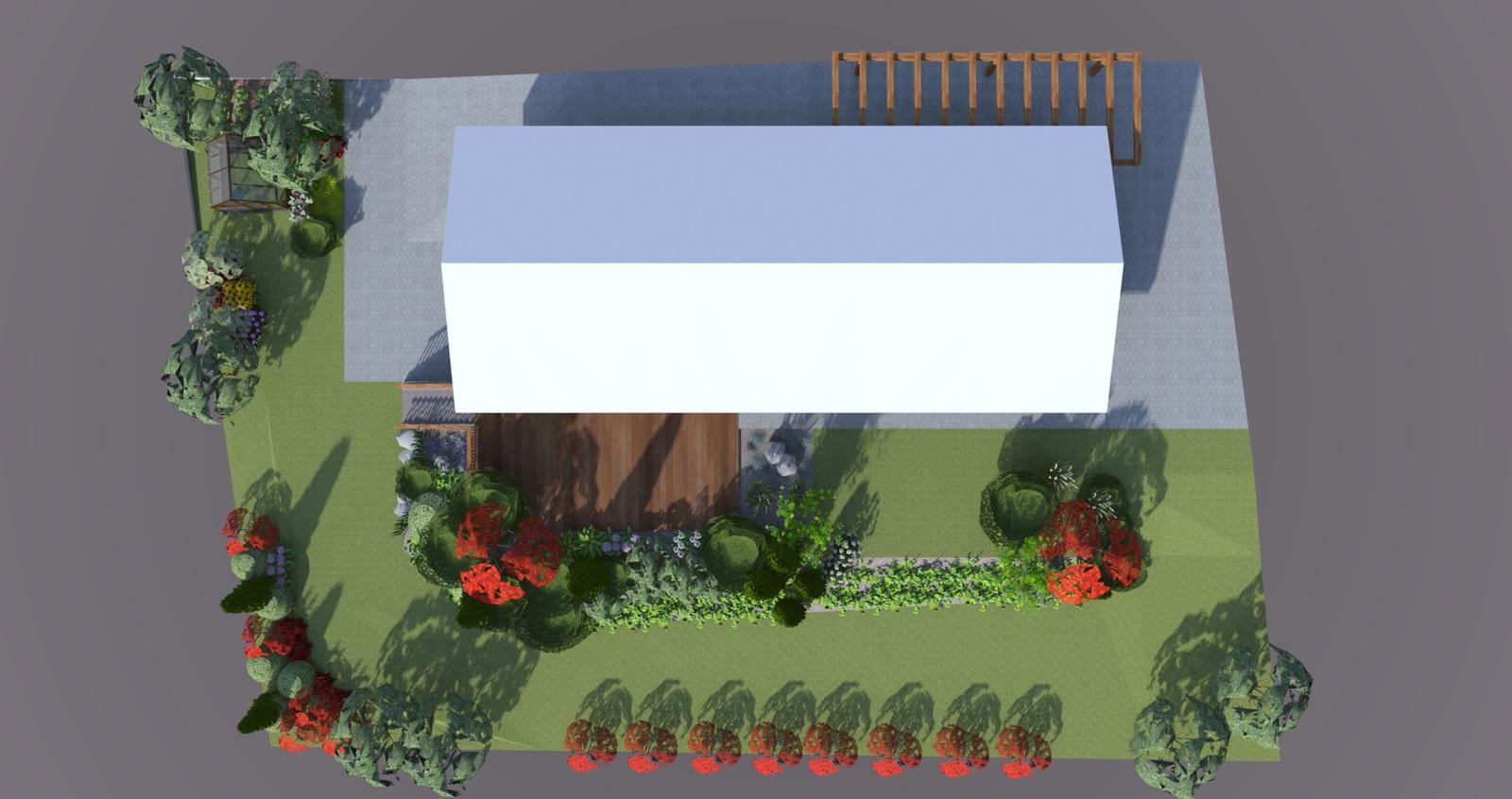 Prebiehajuce projekty - Návrh záhrady rodinného domu Námestovo