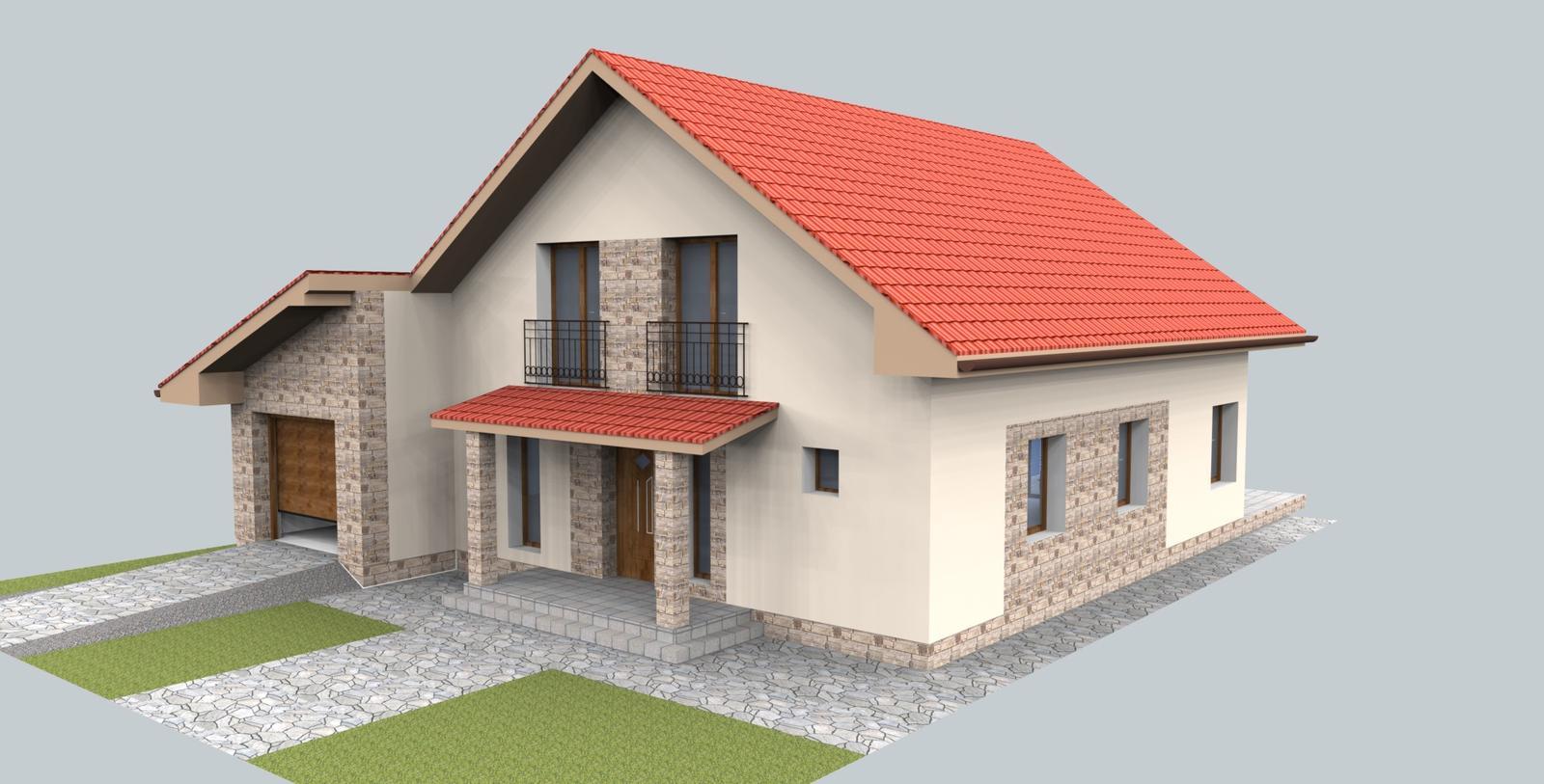 Prebiehajuce projekty - Návrh fasády rodinného domu