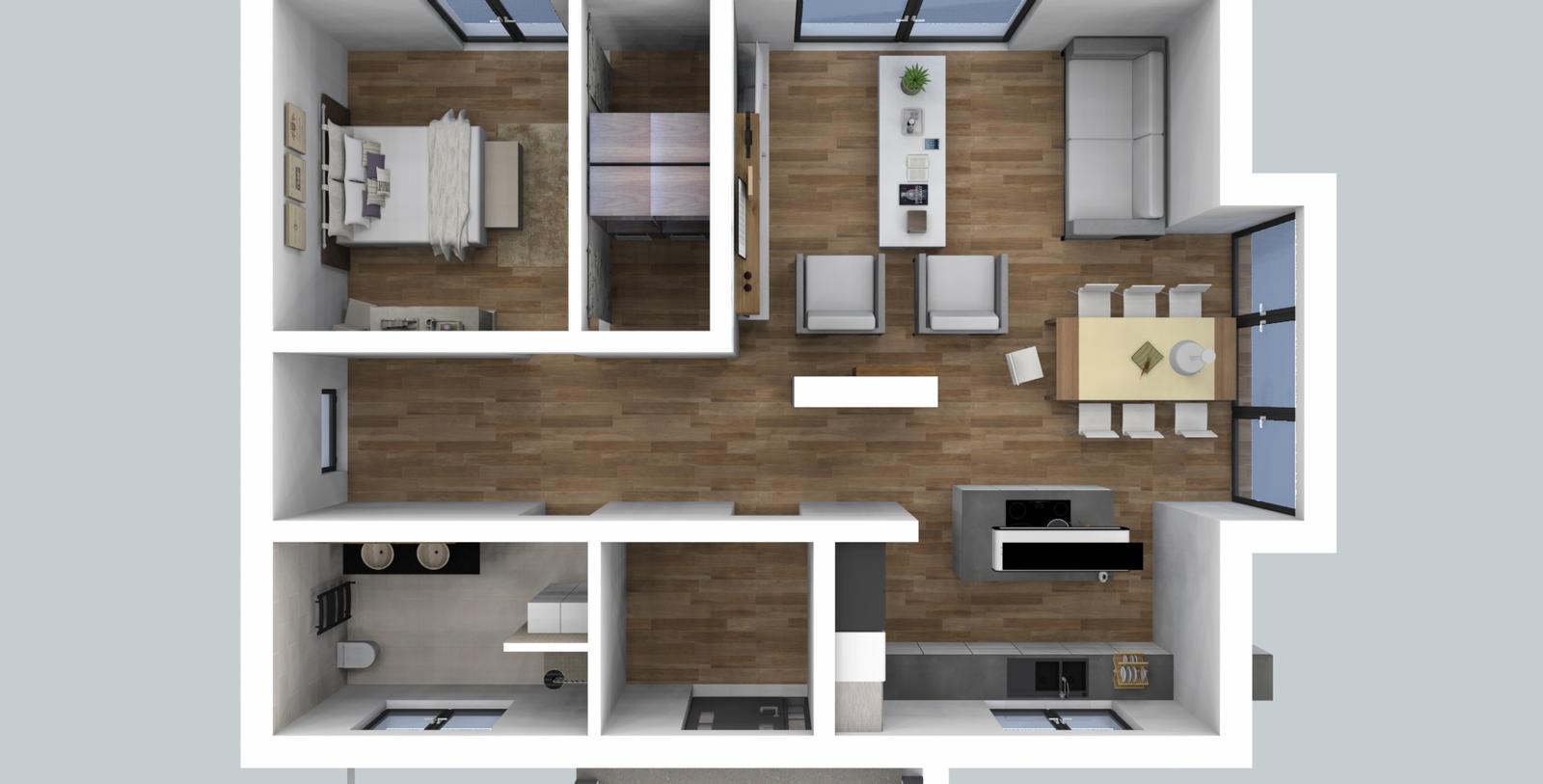 Prebiehajuce projekty - Návrh interiéru rodinného domu