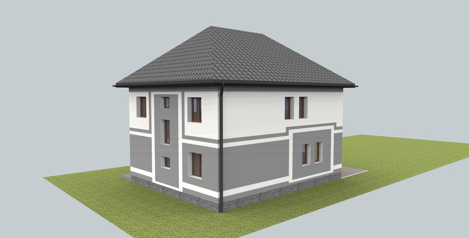 Návrh fasády s oplotením - Obrázok č. 1