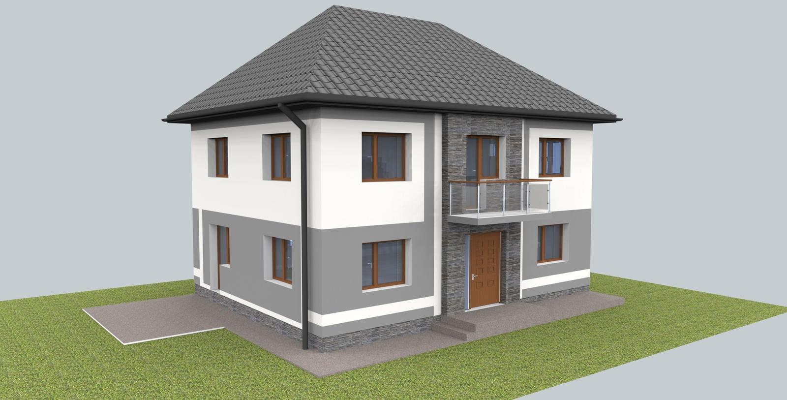 Návrh fasády s oplotením - Obrázok č. 2