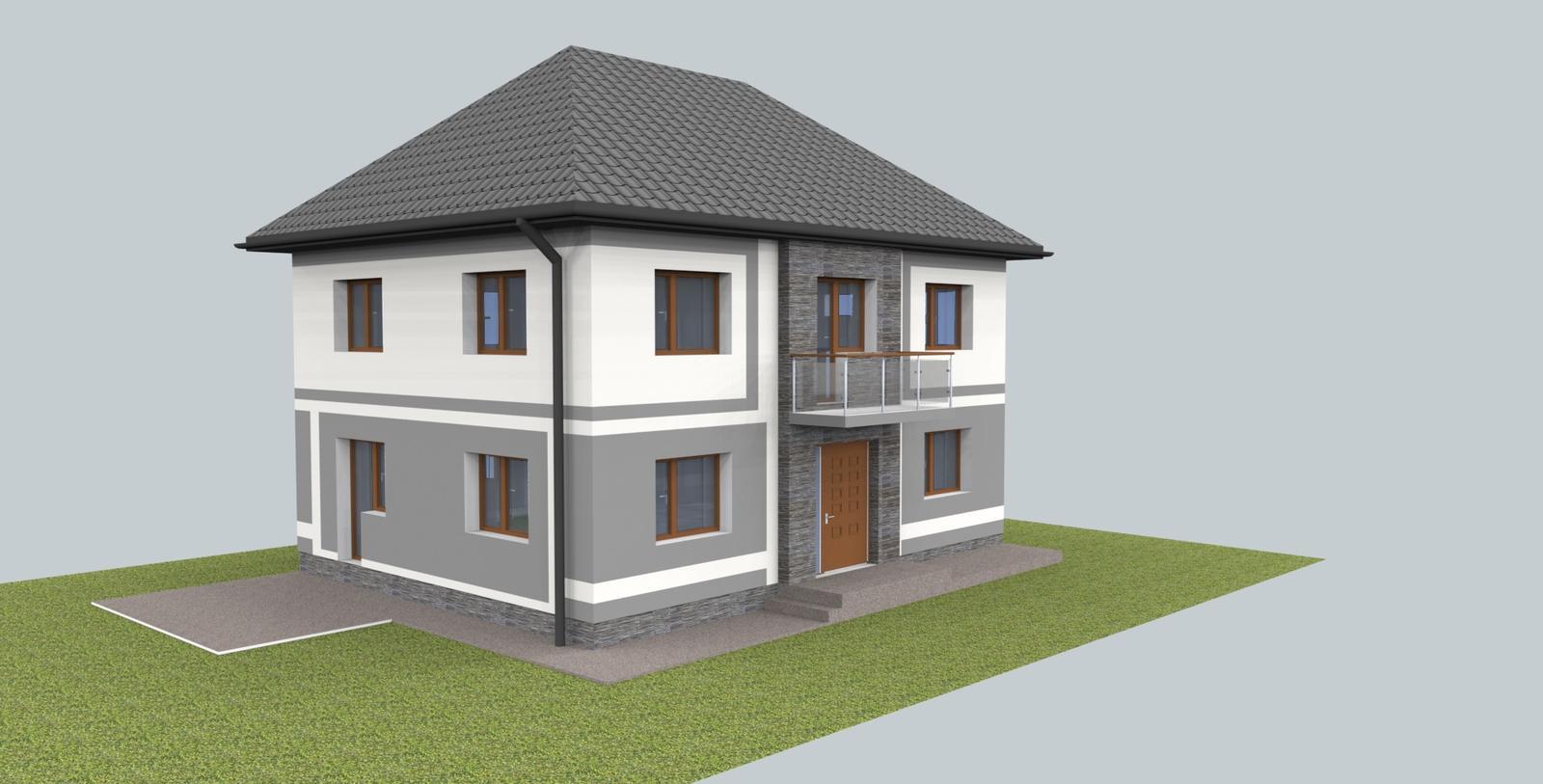 Návrh fasády s oplotením - Obrázok č. 3