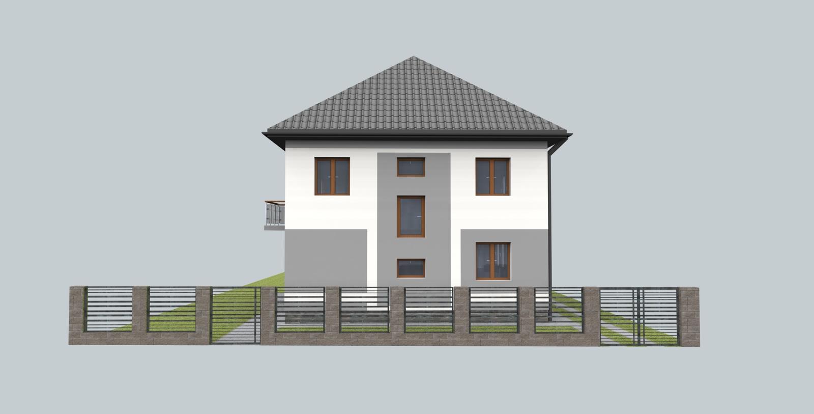 Návrh fasády s oplotením - Obrázok č. 4