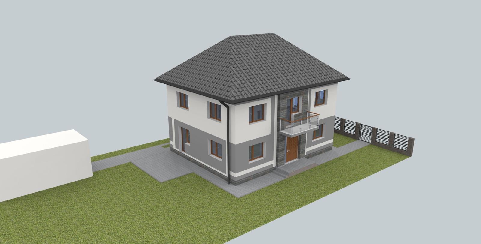 Návrh fasády s oplotením - Obrázok č. 5