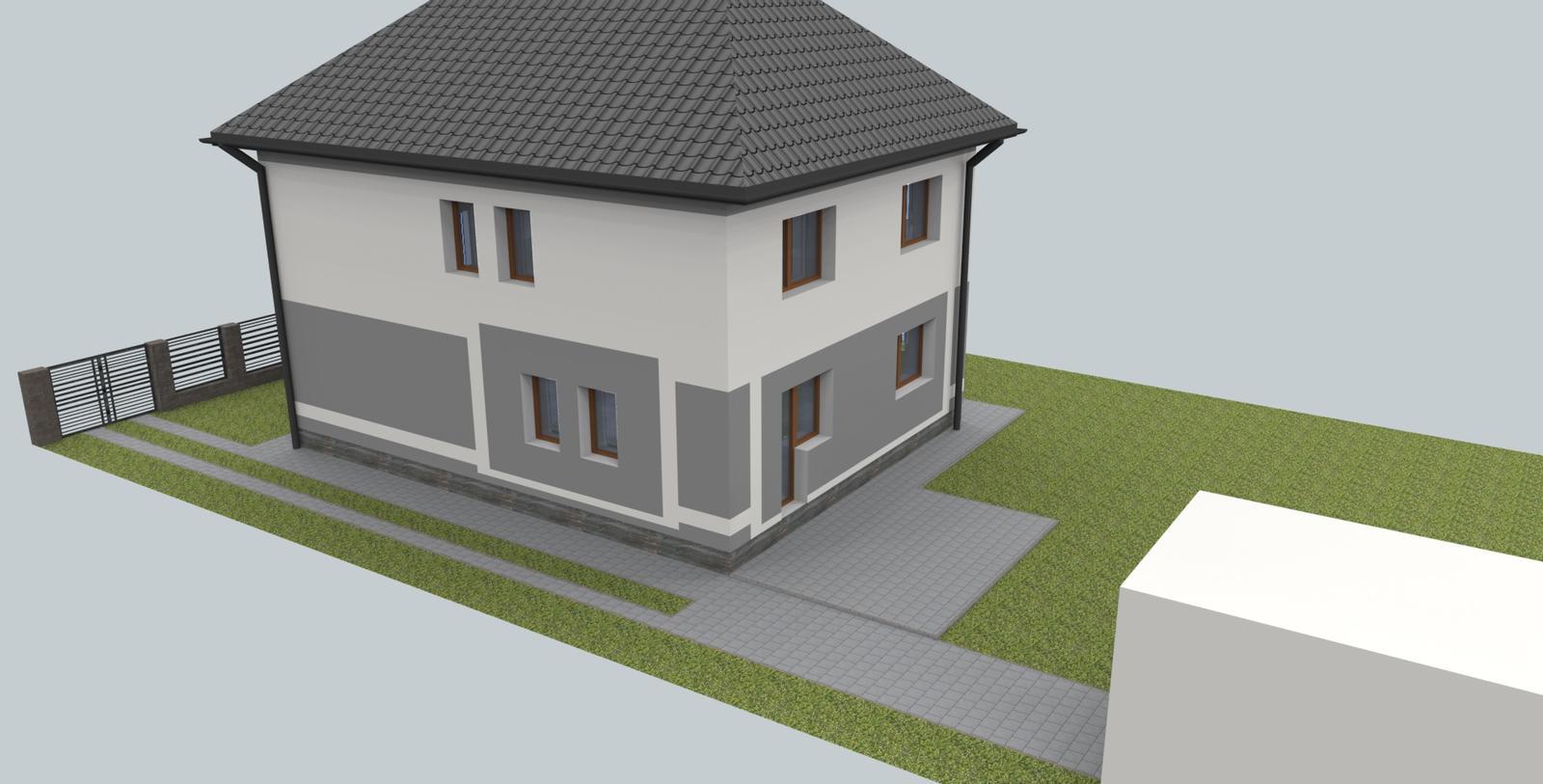 Návrh fasády s oplotením - Obrázok č. 6