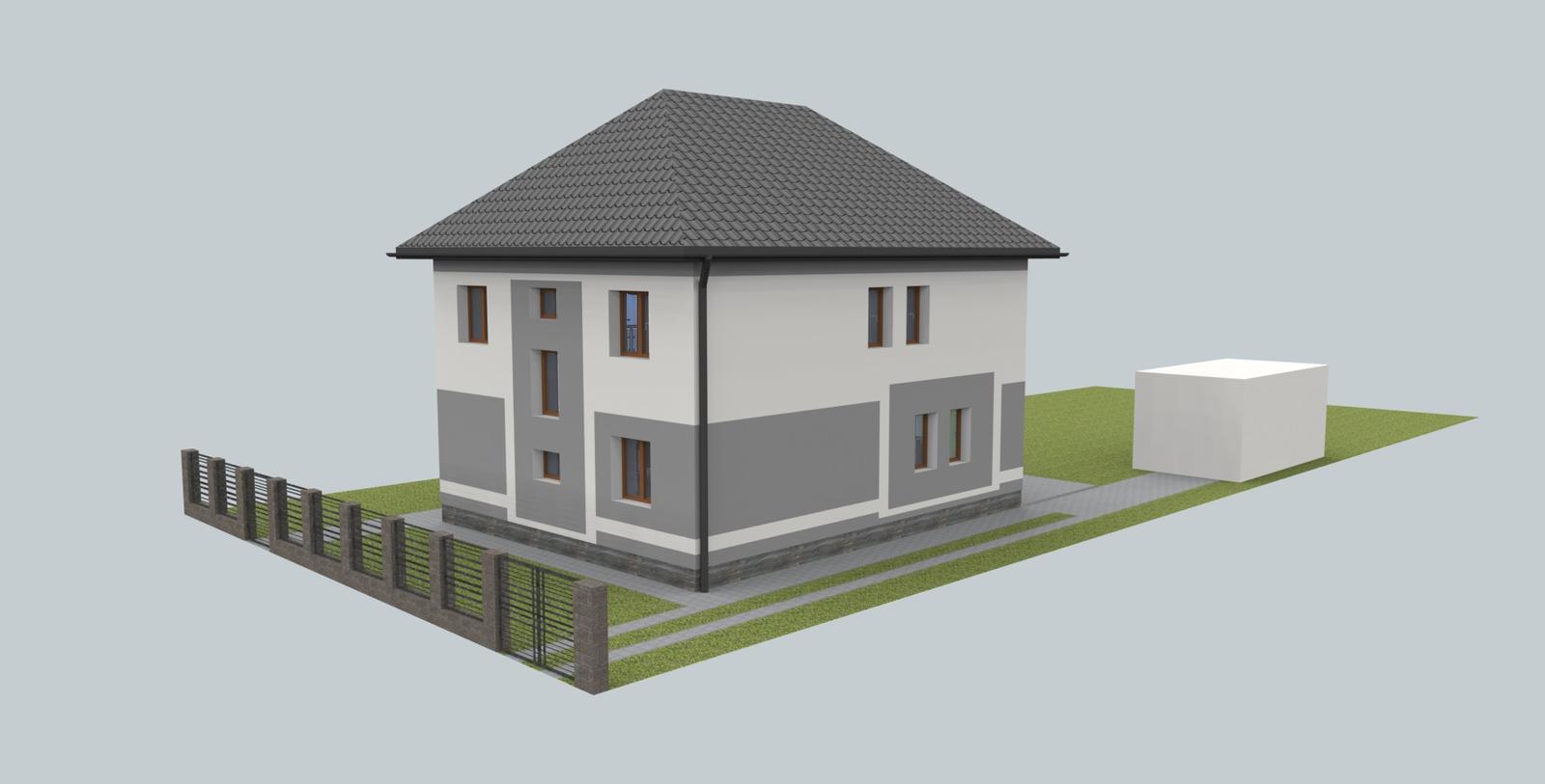Návrh fasády s oplotením - Obrázok č. 7