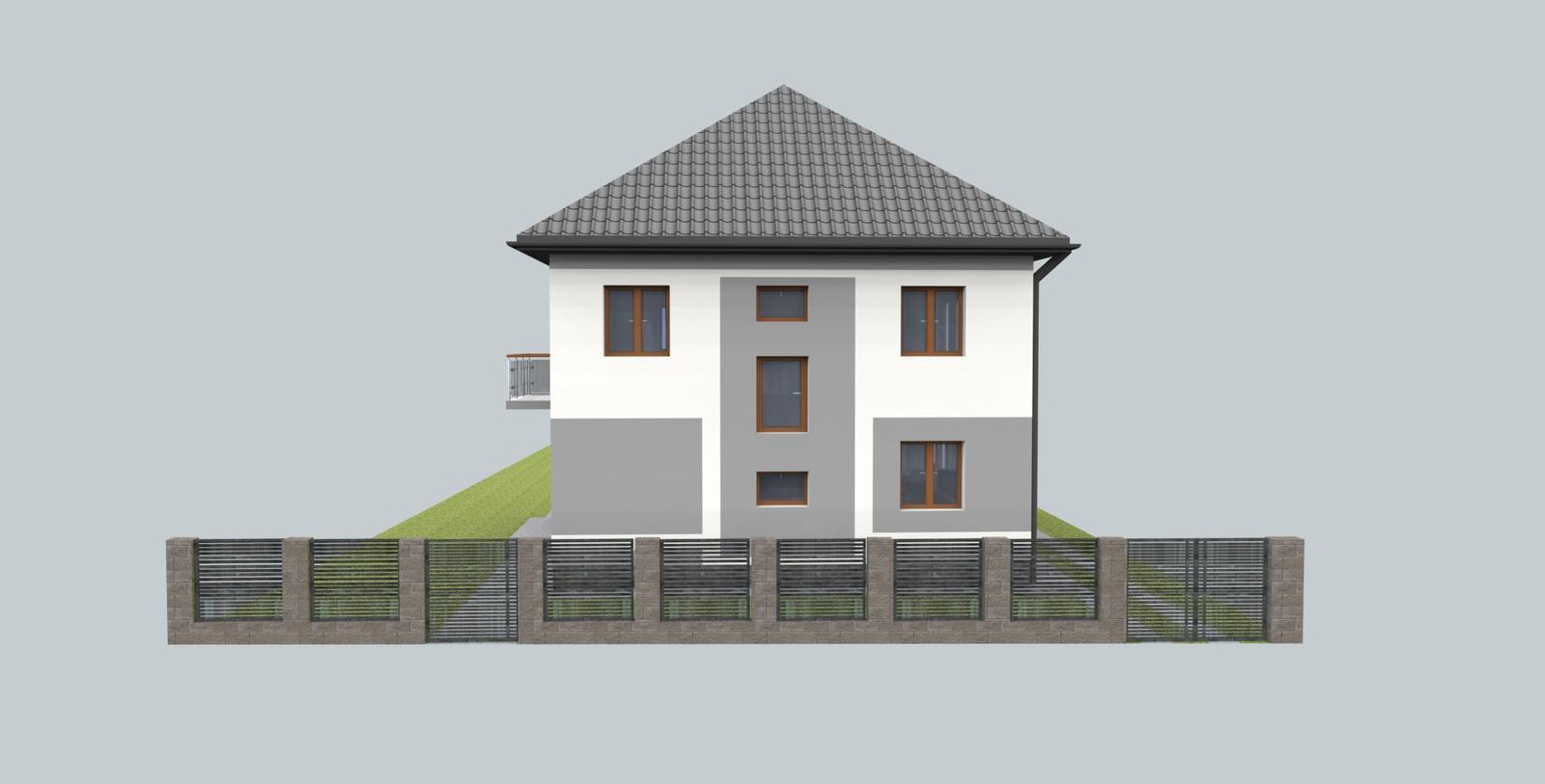 Návrh fasády s oplotením - Obrázok č. 8