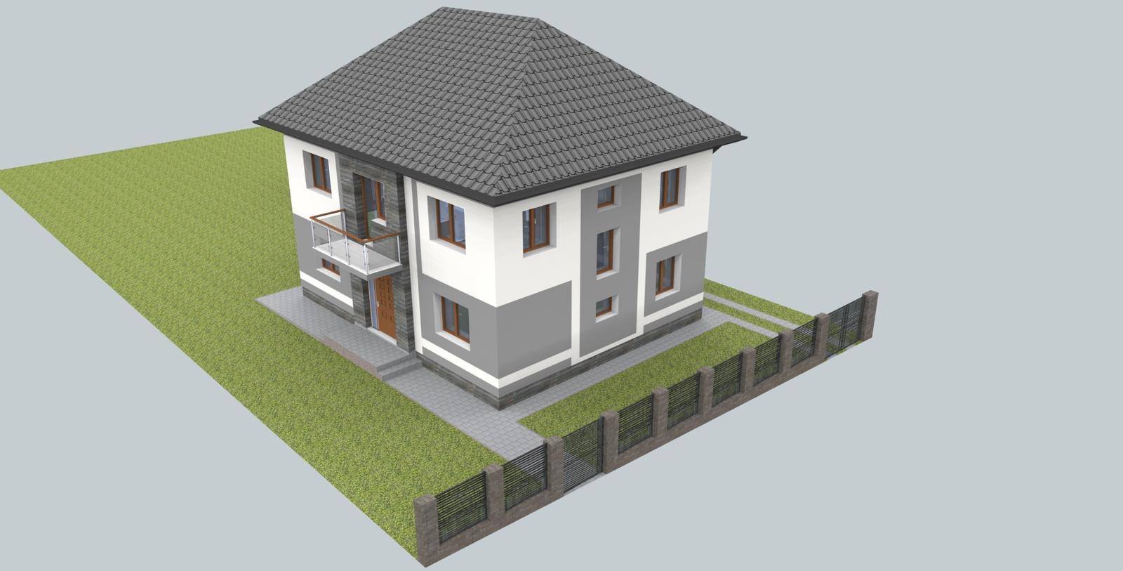 Návrh fasády s oplotením - Obrázok č. 9