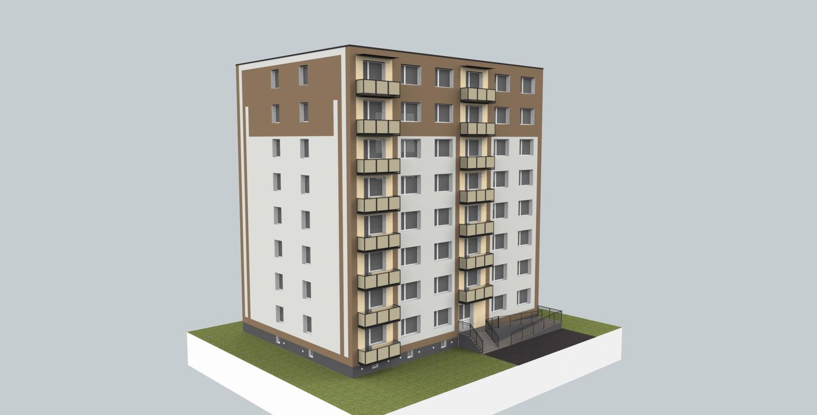 Prebiehajuce projekty - Jeden z návrhov fasády