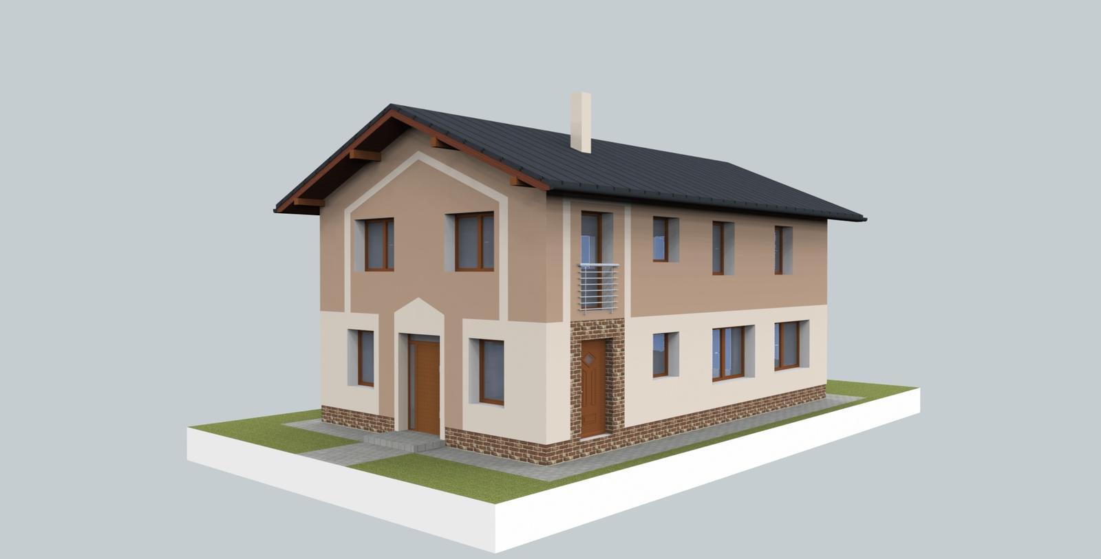 Prebiehajuce projekty - Jeden z návrhov fasády poskytnutý na výber investorovi.