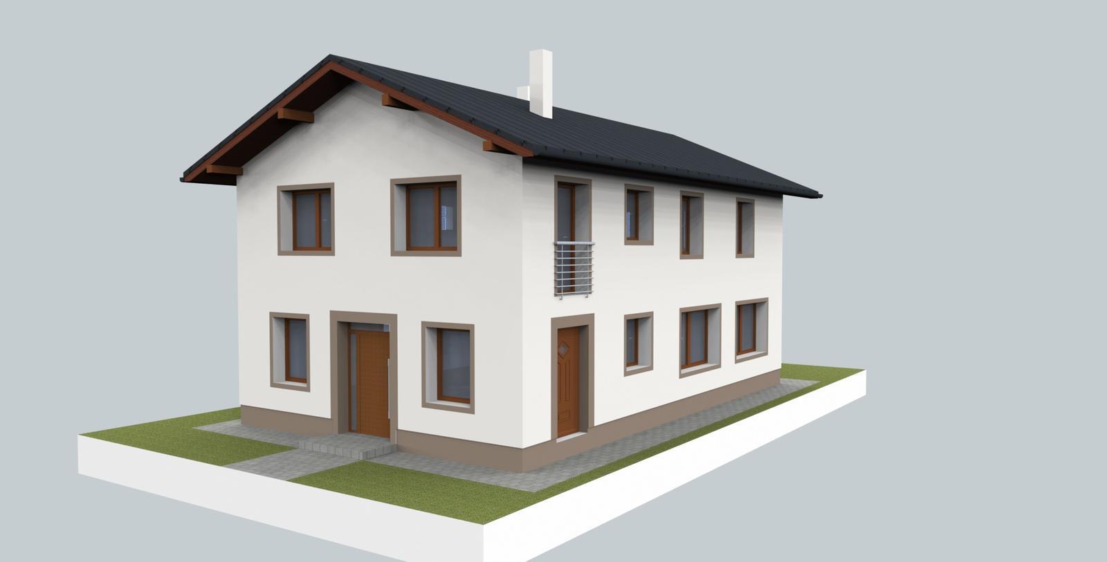 Prebiehajuce projekty - Jeden z návrhov fasády poskytnutý na výber investorovi- zvolený ako finálny.
