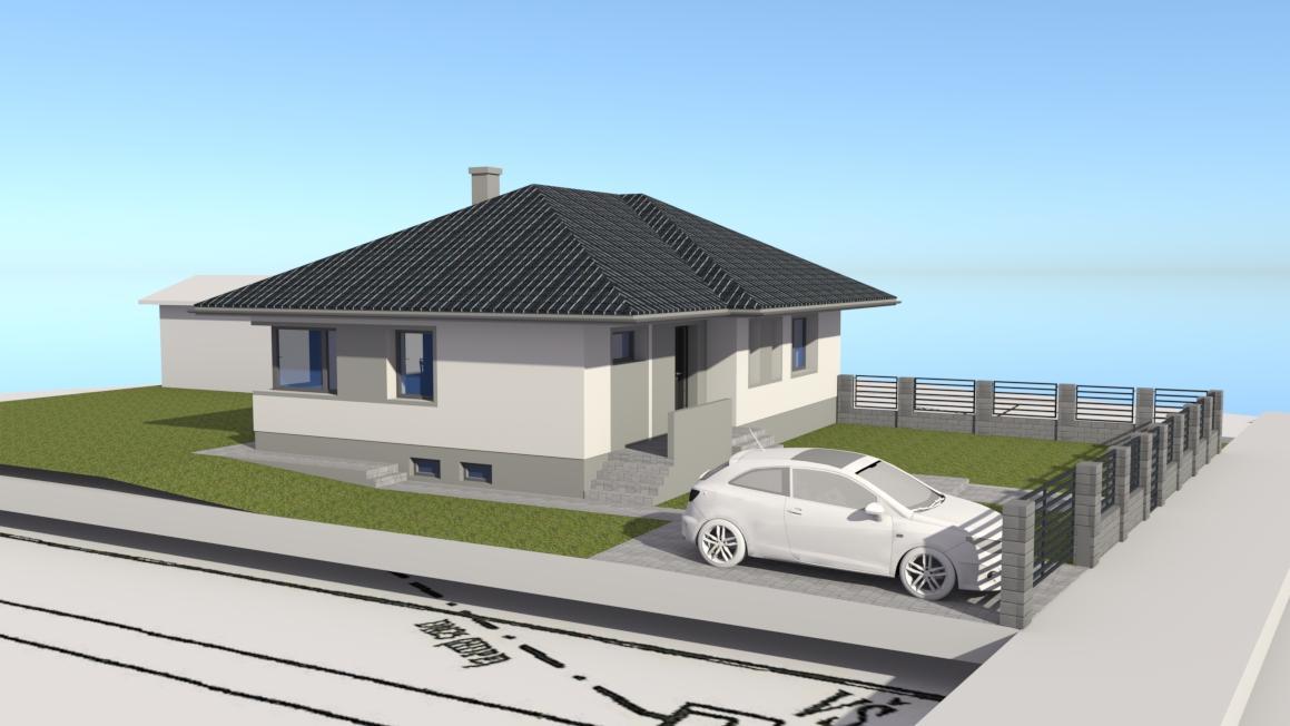 Prebiehajuce projekty - Návrhovanie fasády, chodníkov a oplotenia