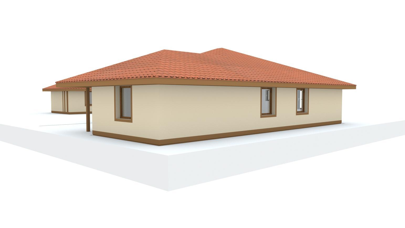 Návrh fasády rodinného domu, oplotenia a predbežné rozmiestnenie prvkov záhrade - Obrázok č. 11