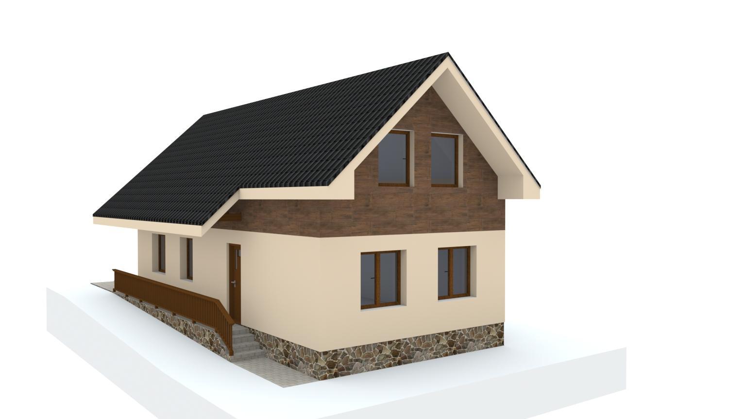 Návrh fasády rodinného domu - Obrázok č. 11