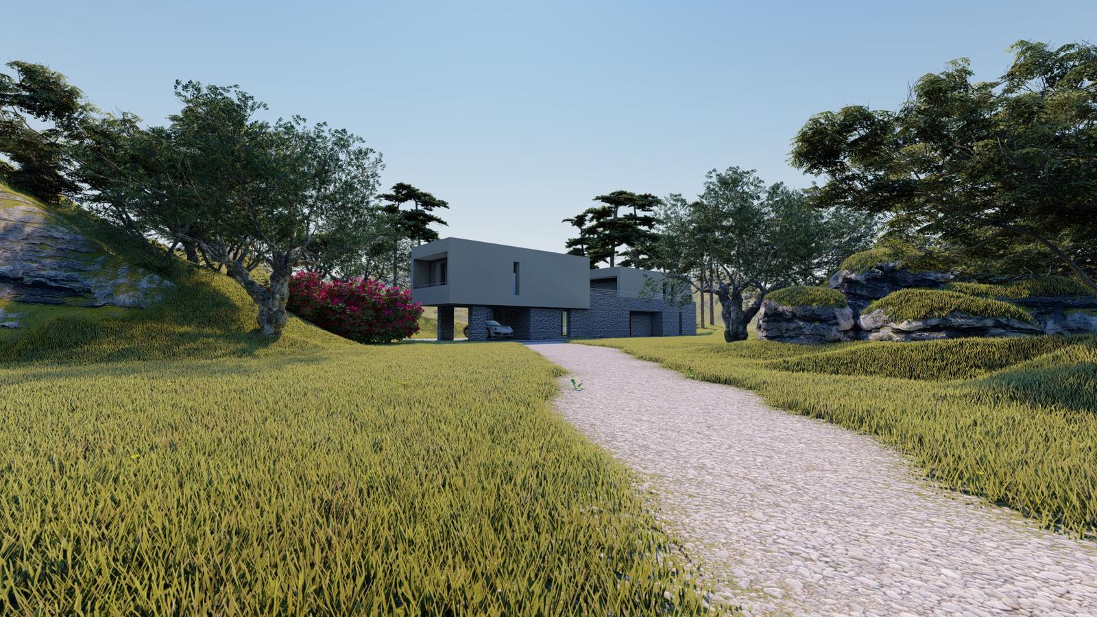 Návrh fasády rodinného domu v Chorvátsku - Obrázok č. 2