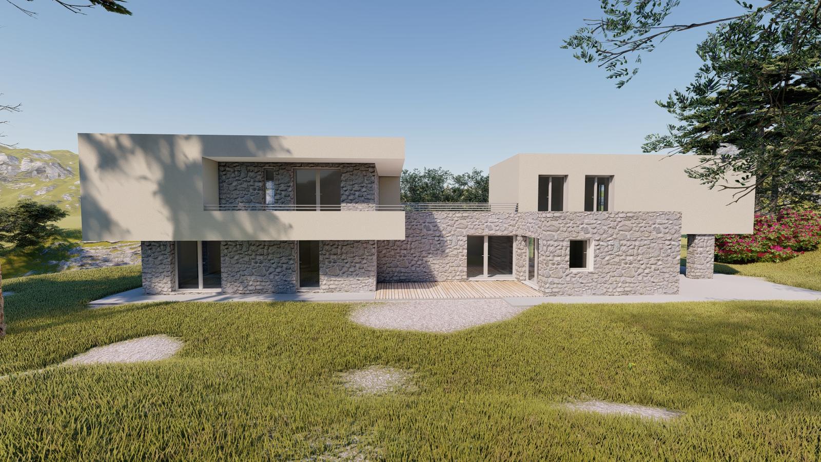 Návrh fasády rodinného domu v Chorvátsku - Obrázok č. 3