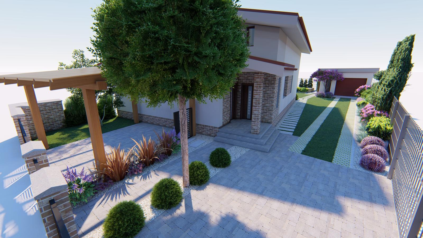 Návrh záhrady rodinného domu. - Obrázok č. 3