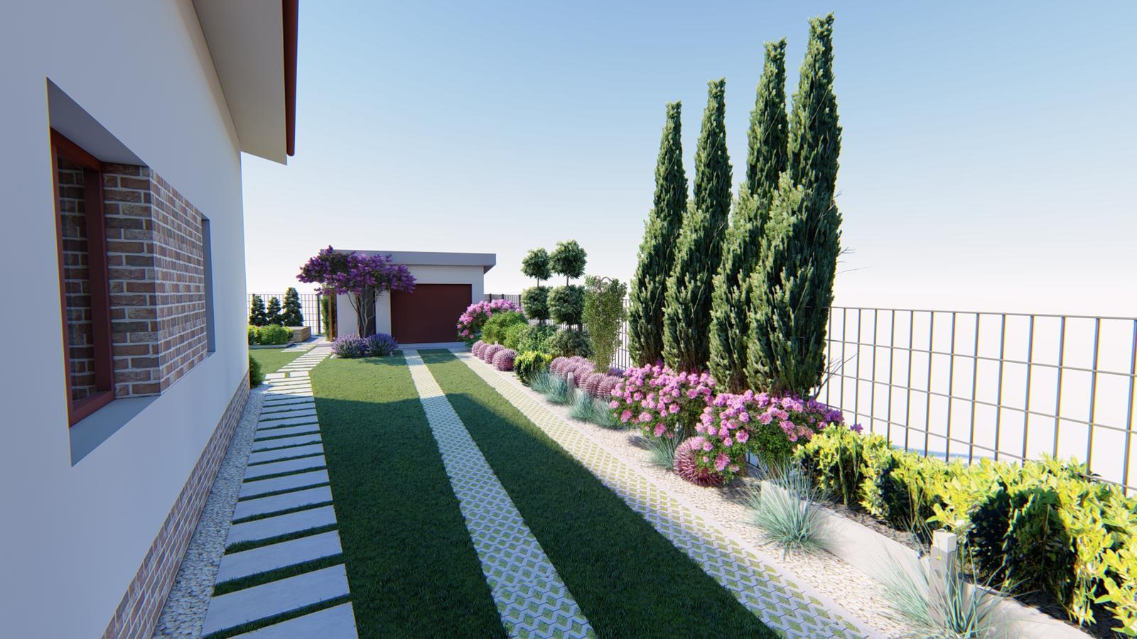 Návrh záhrady rodinného domu. - Obrázok č. 4