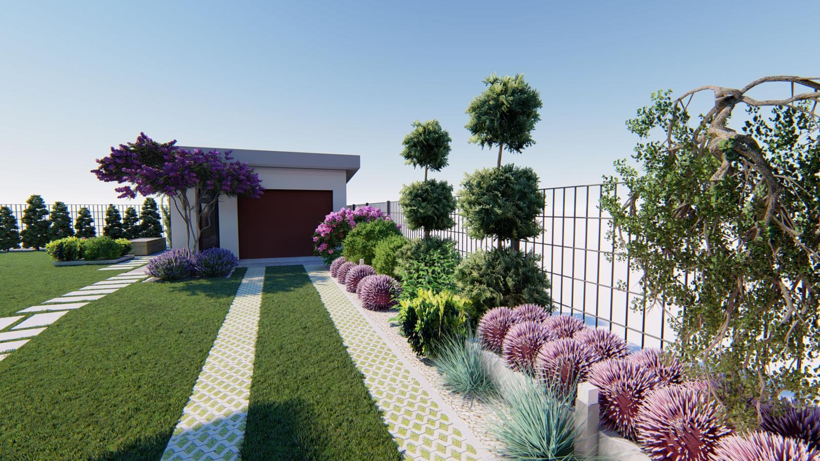 Návrh záhrady rodinného domu. - Obrázok č. 5