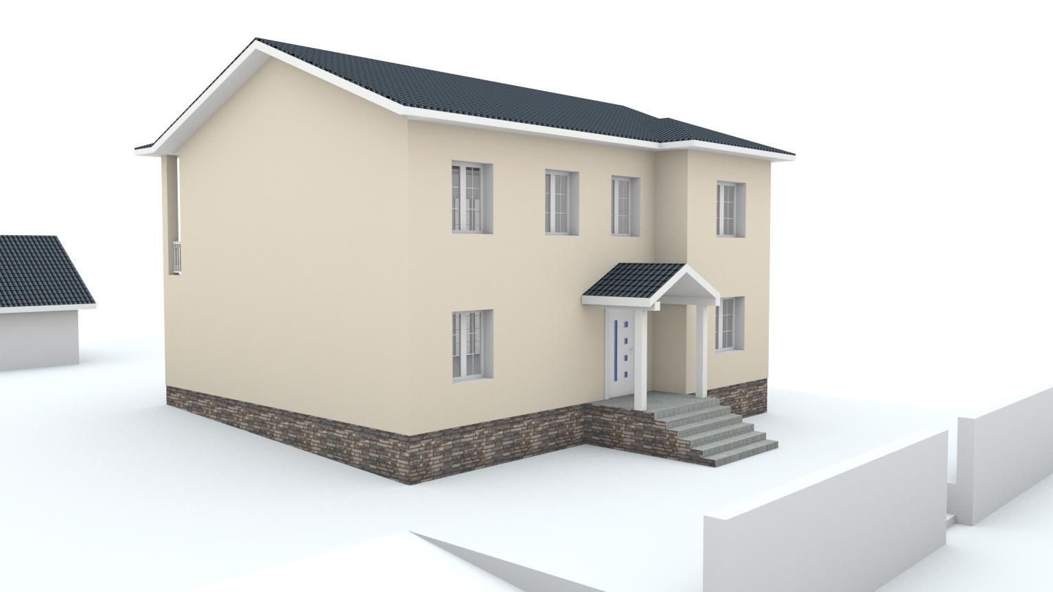 Návrh fasády rodinného domu Bratislava - Obrázok č. 1