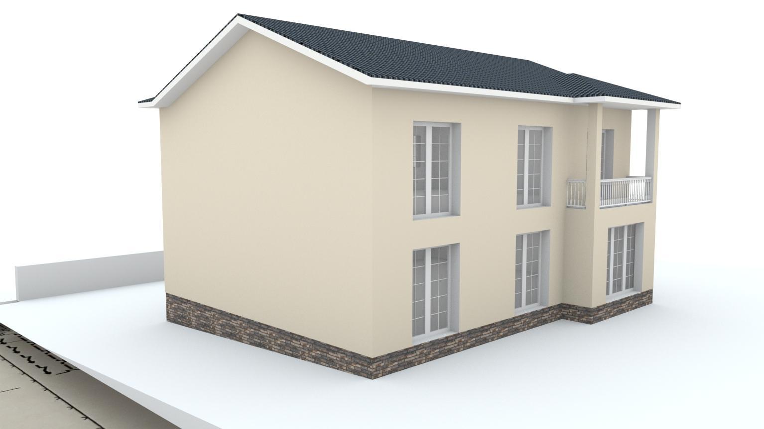 Návrh fasády rodinného domu Bratislava - Obrázok č. 2