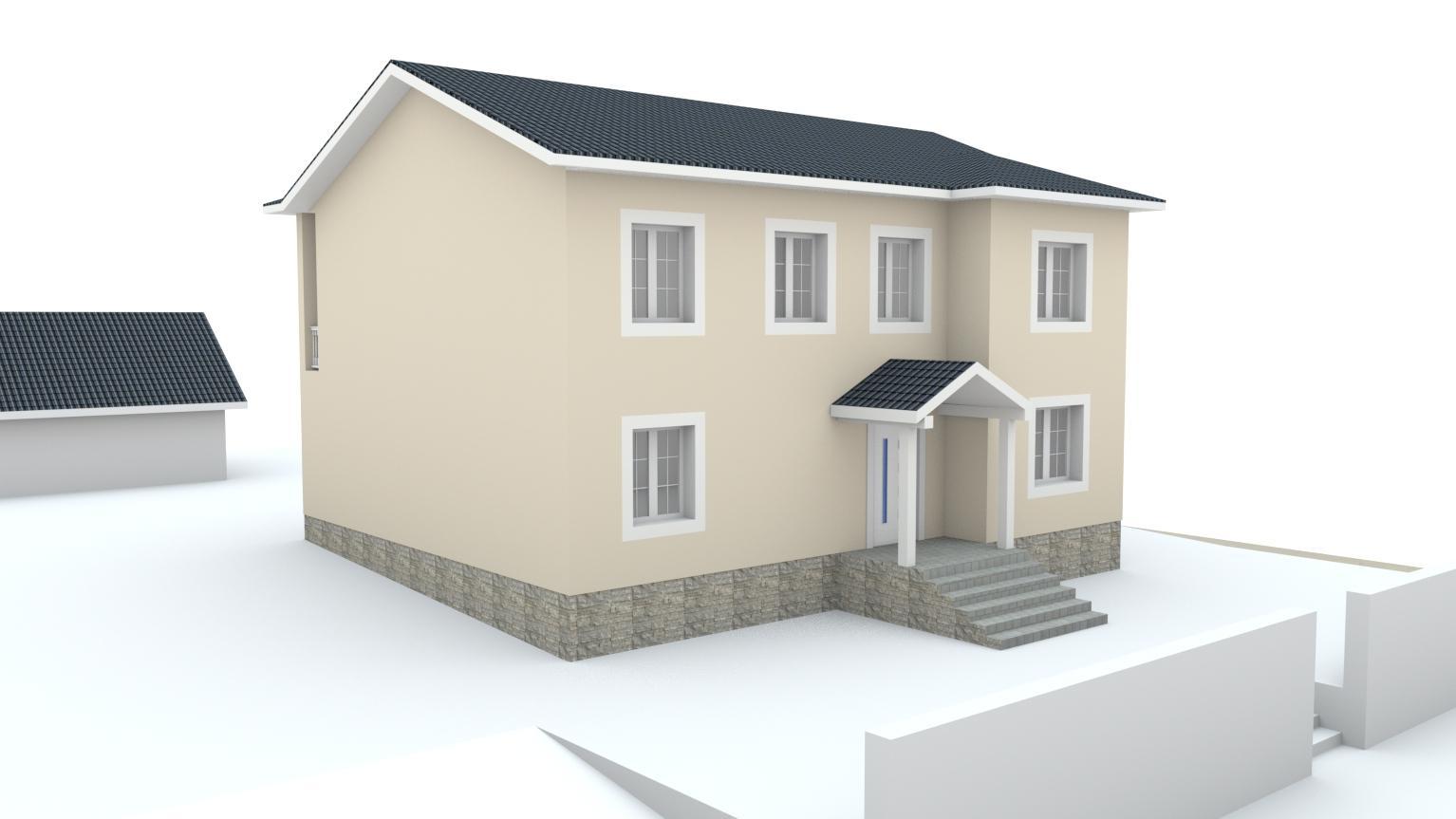 Návrh fasády rodinného domu Bratislava - Obrázok č. 3