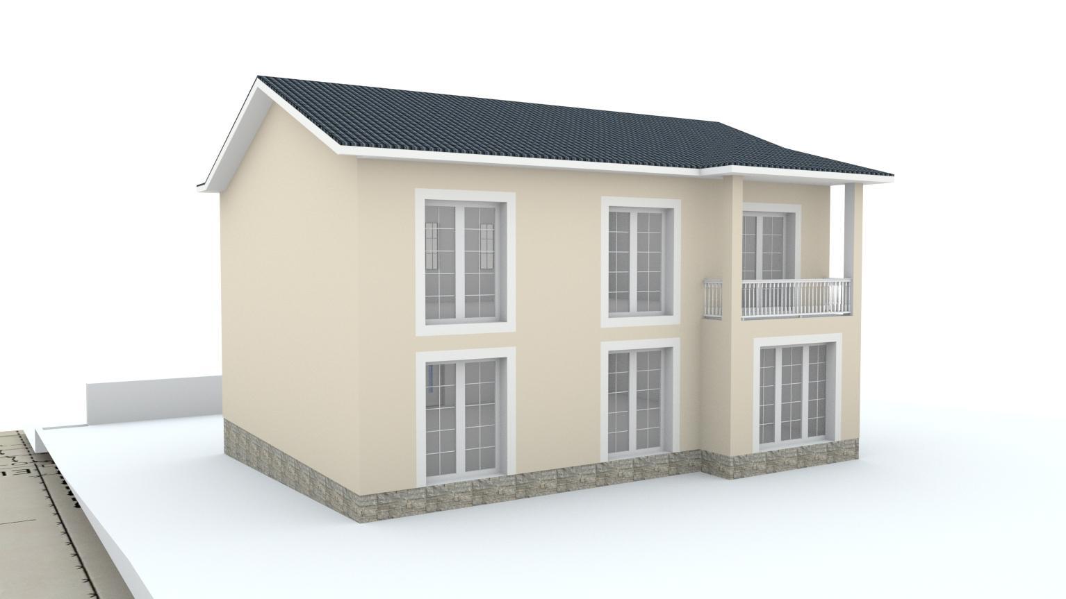 Návrh fasády rodinného domu Bratislava - Obrázok č. 4