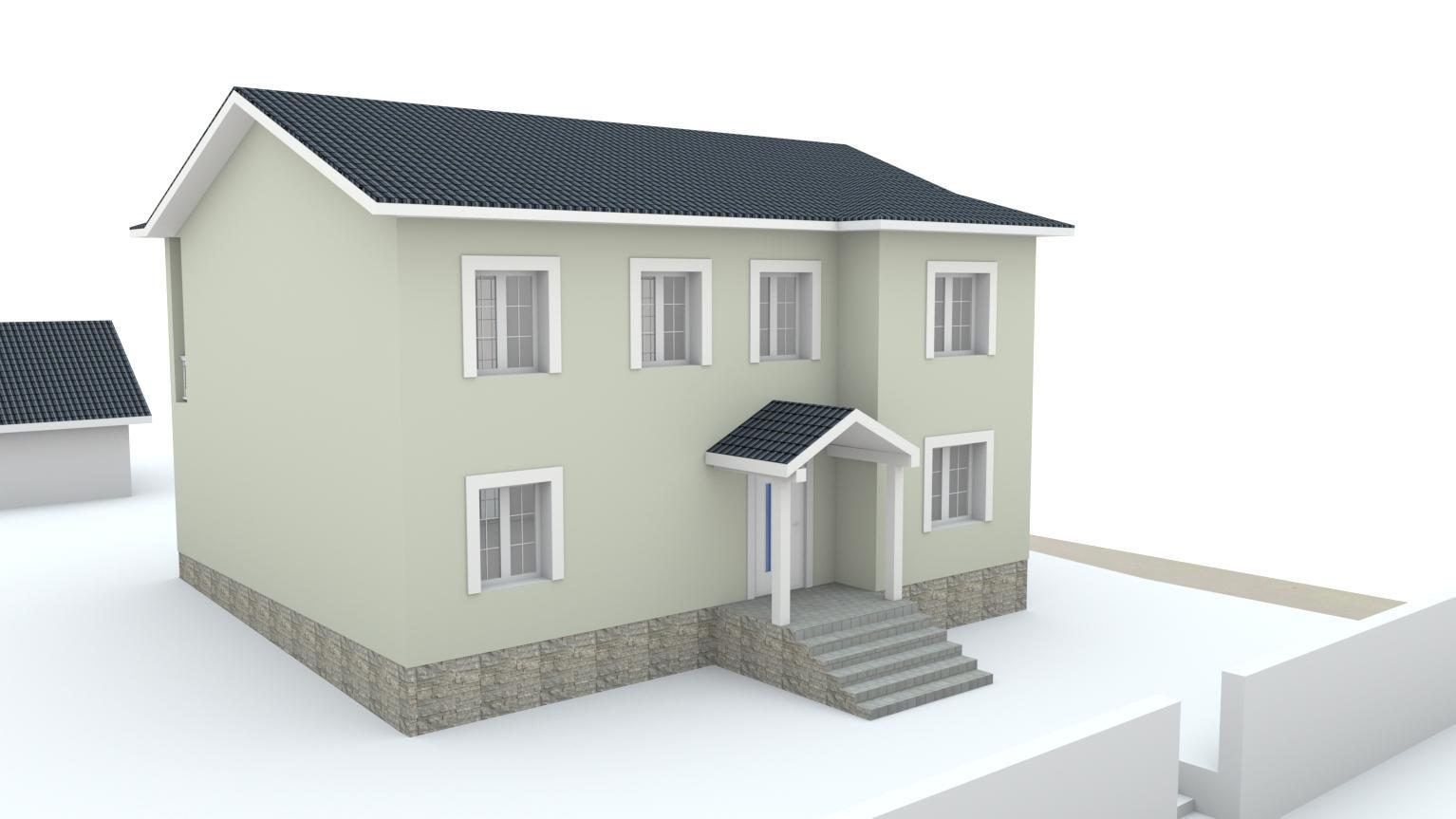 Návrh fasády rodinného domu Bratislava - Obrázok č. 5
