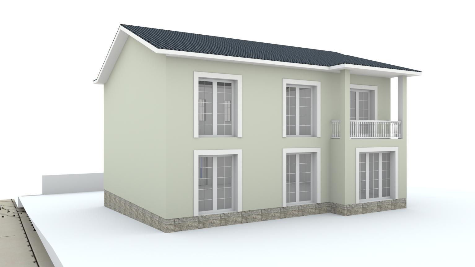 Návrh fasády rodinného domu Bratislava - Obrázok č. 6