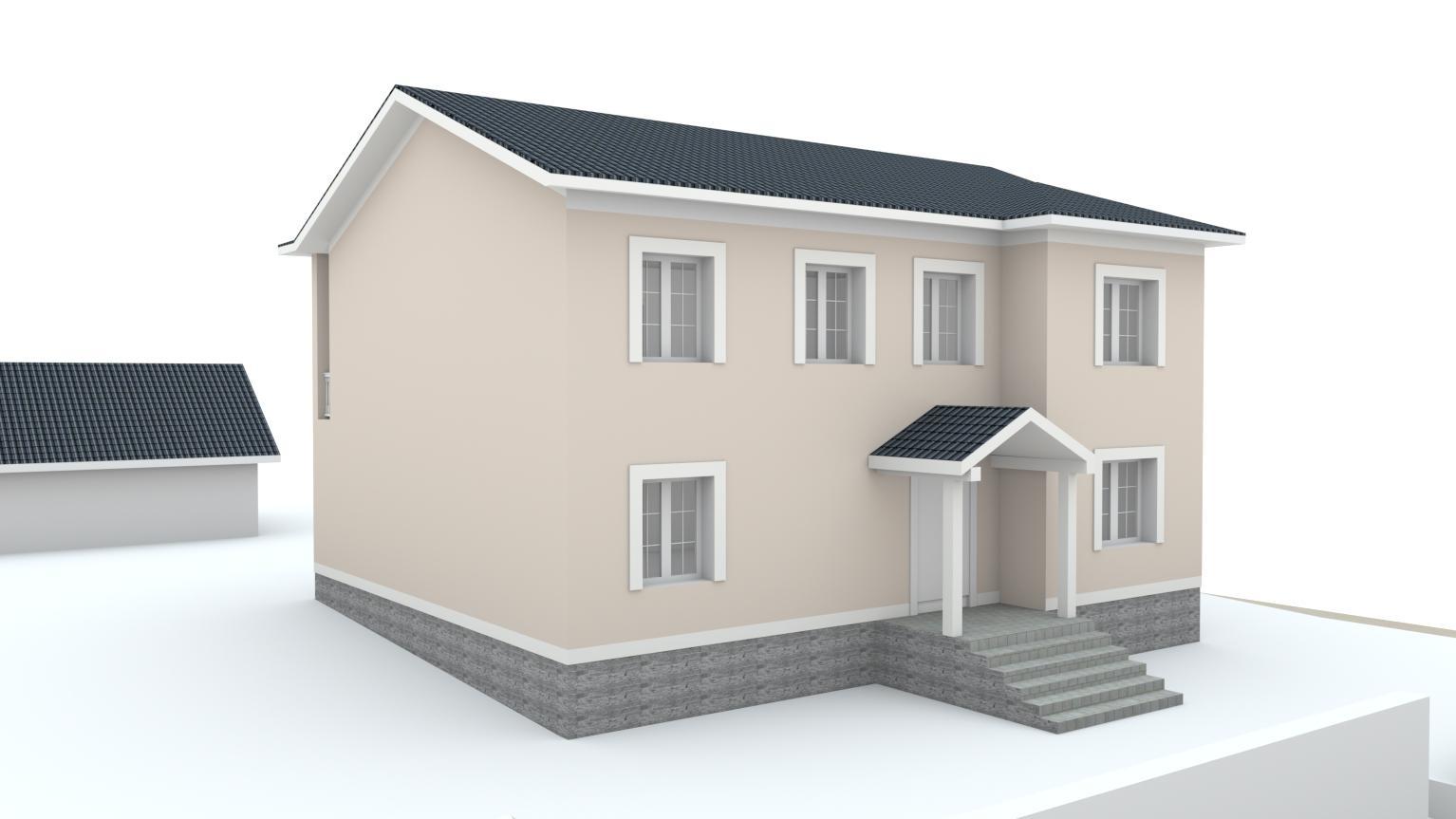 Návrh fasády rodinného domu Bratislava - Obrázok č. 7