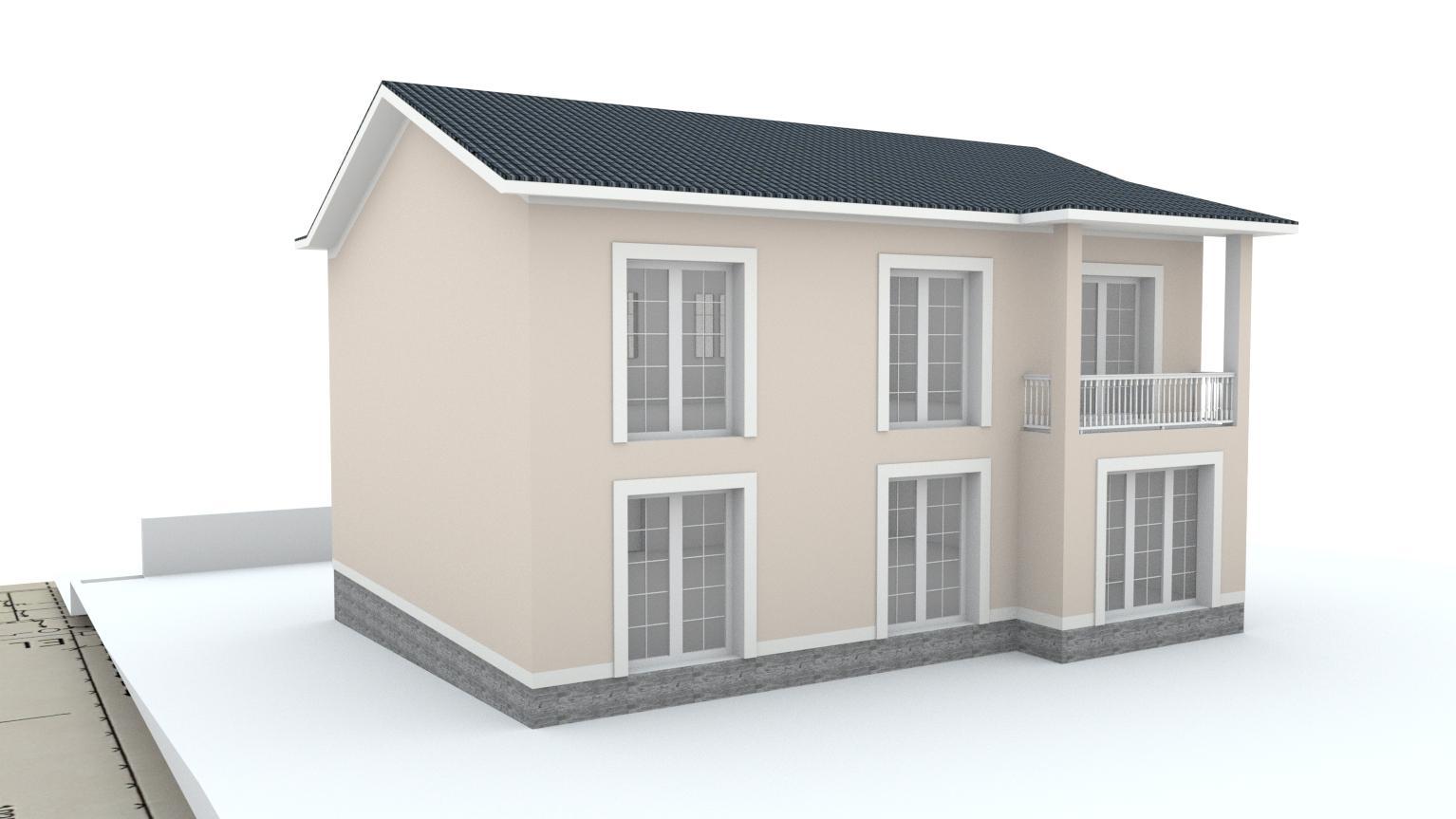 Návrh fasády rodinného domu Bratislava - Obrázok č. 8