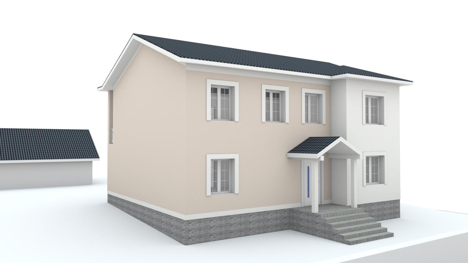 Návrh fasády rodinného domu Bratislava - Obrázok č. 9
