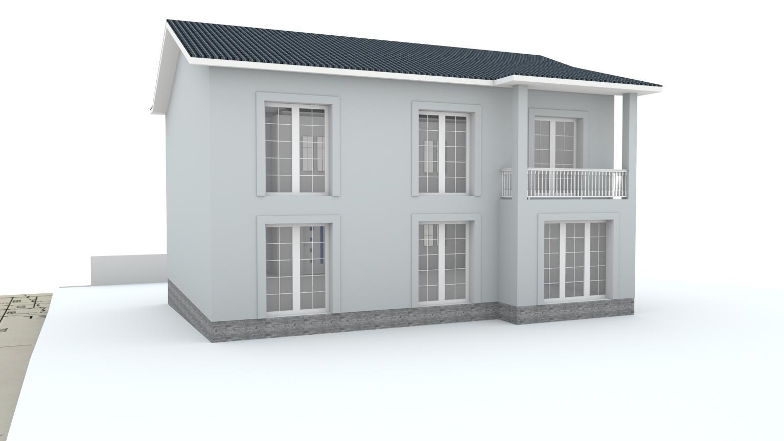 Návrh fasády rodinného domu Bratislava - Obrázok č. 16