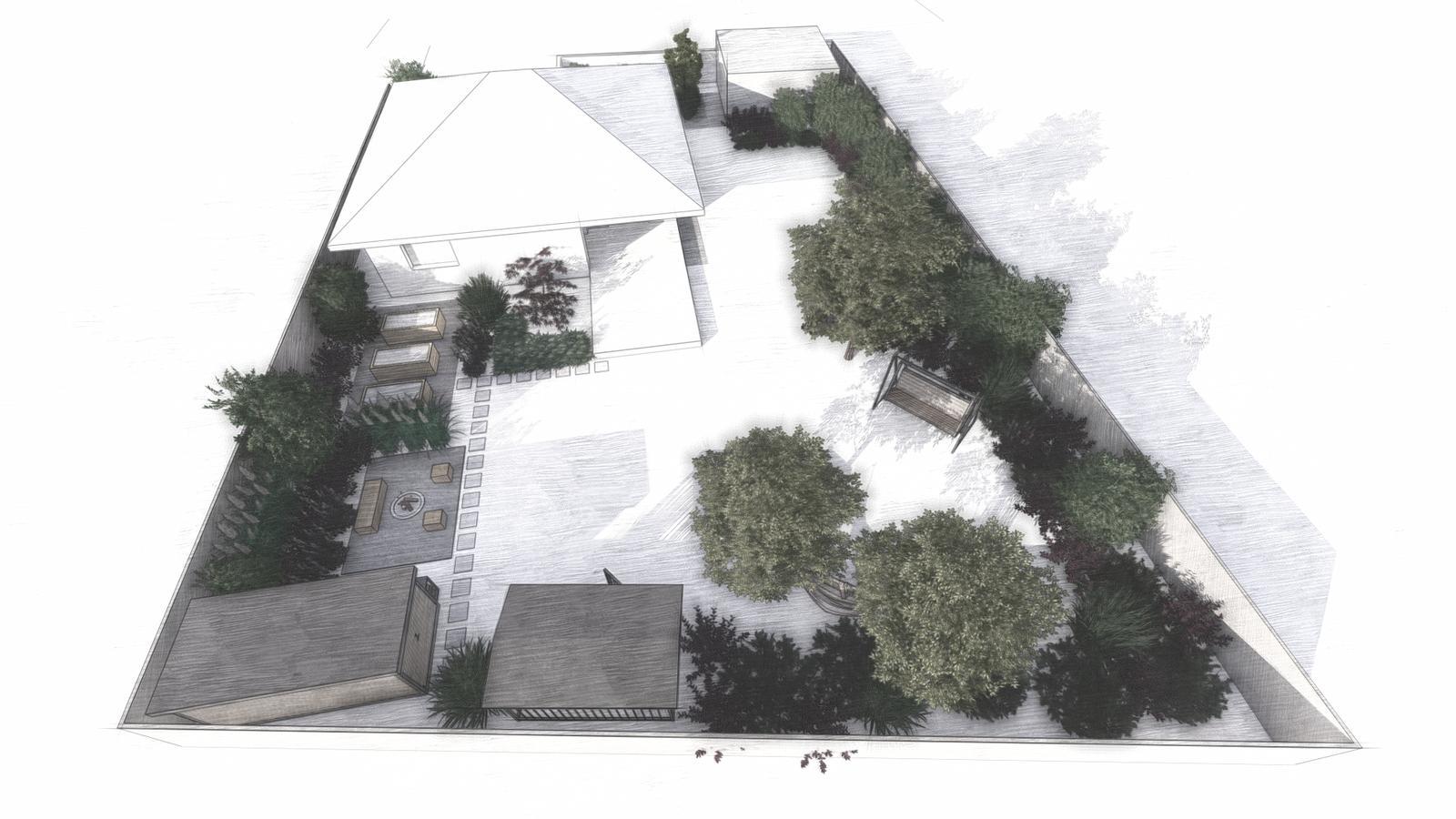 Návrh záhrady rodinného domu - Obrázok č. 4