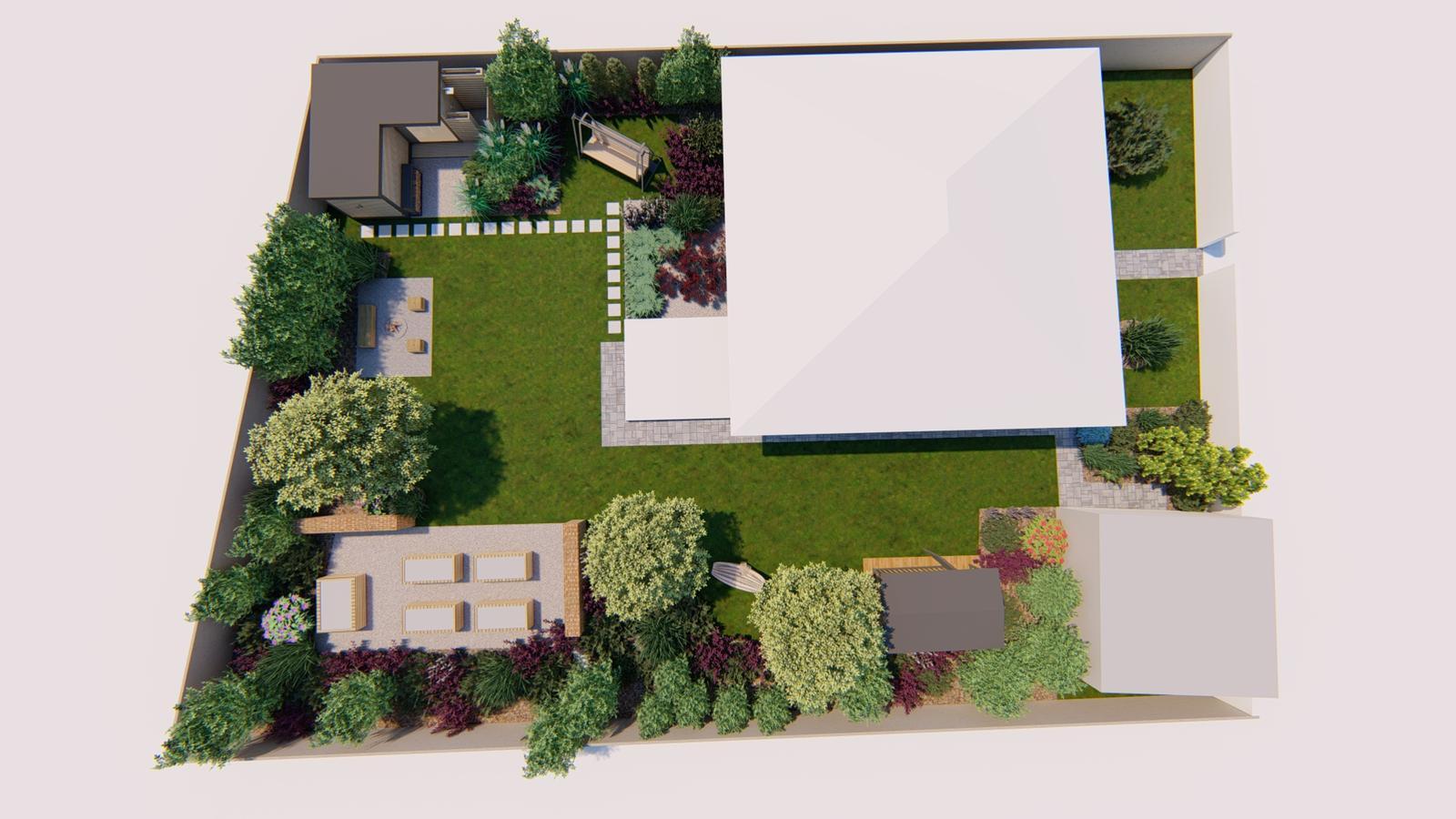 Návrh záhrady rodinného domu - Obrázok č. 23
