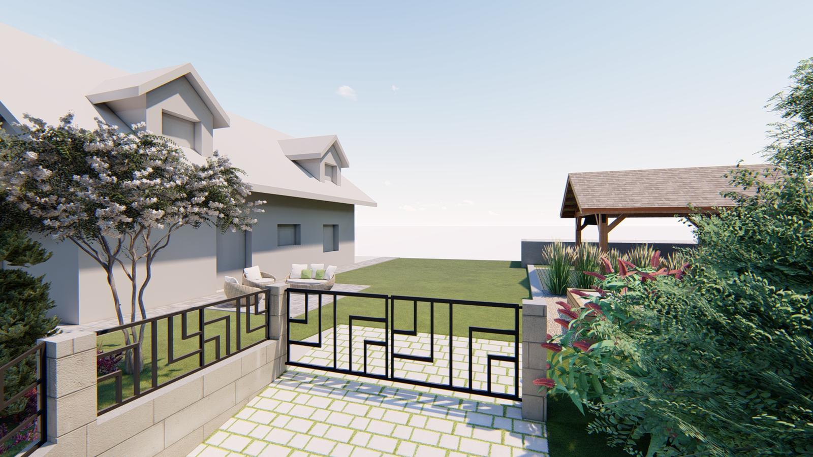 Návrh záhrady rodinného domu - Obrázok č. 3