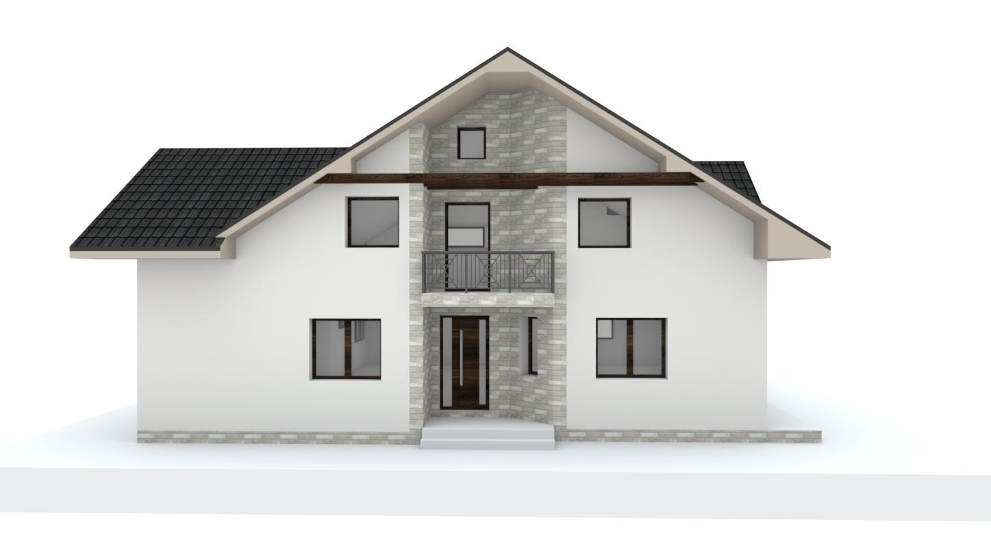 Návrh fasády, oprotenia, chodníkov a záhrady rodinného domu - Obrázok č. 25