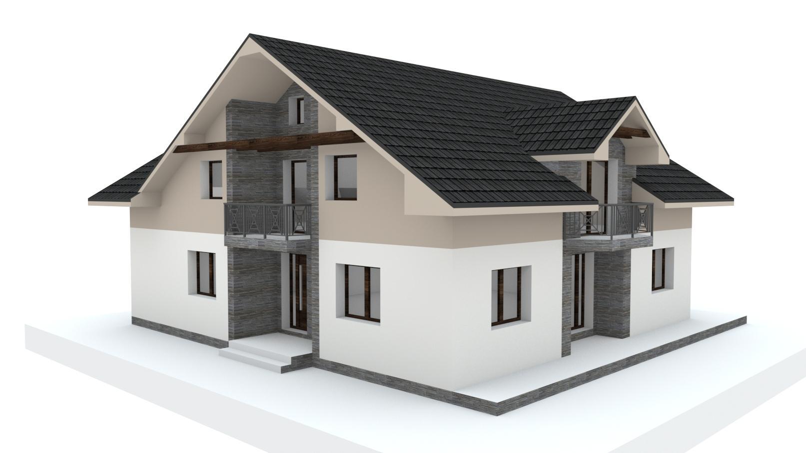 Návrh fasády, oprotenia, chodníkov a záhrady rodinného domu - Obrázok č. 17