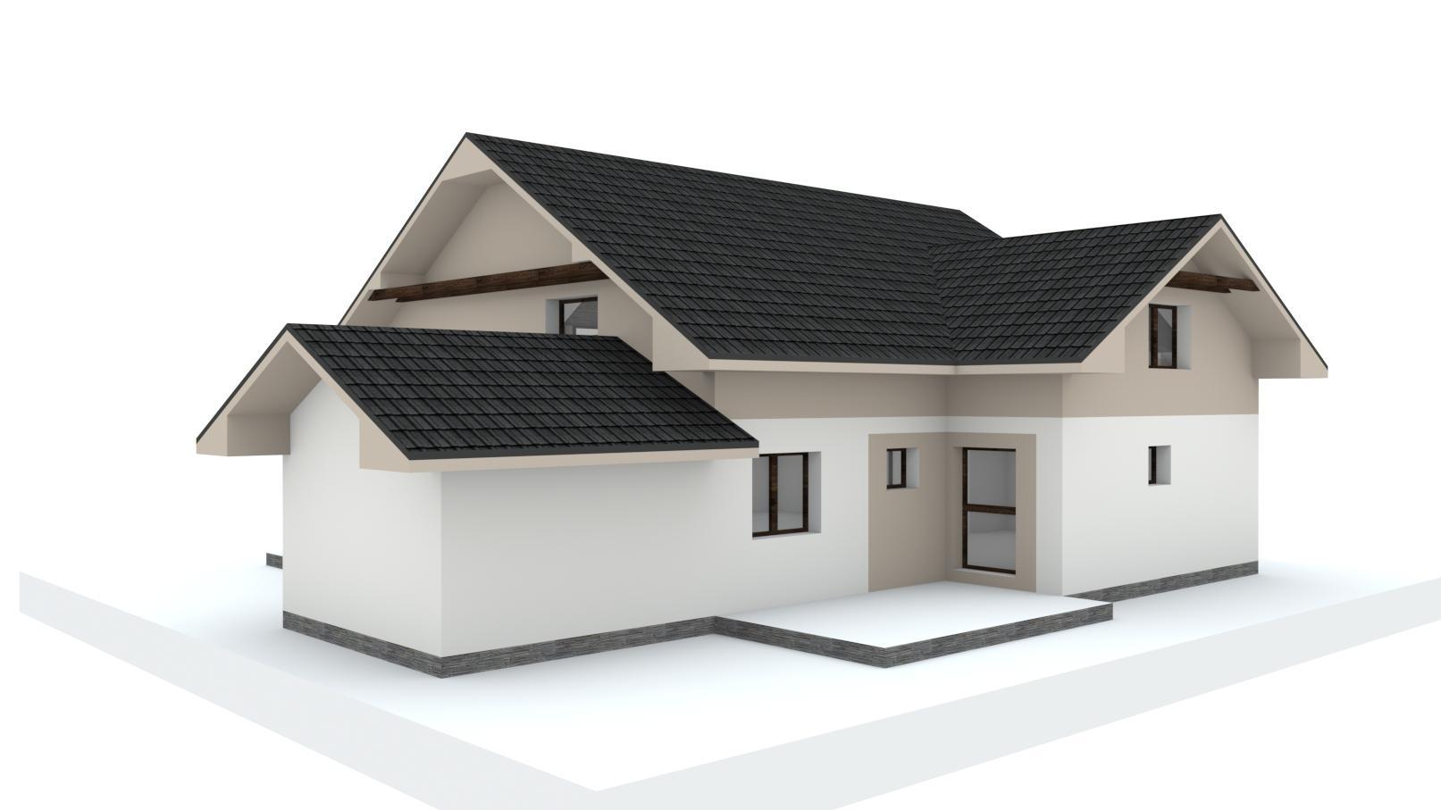 Návrh fasády, oprotenia, chodníkov a záhrady rodinného domu - Obrázok č. 18