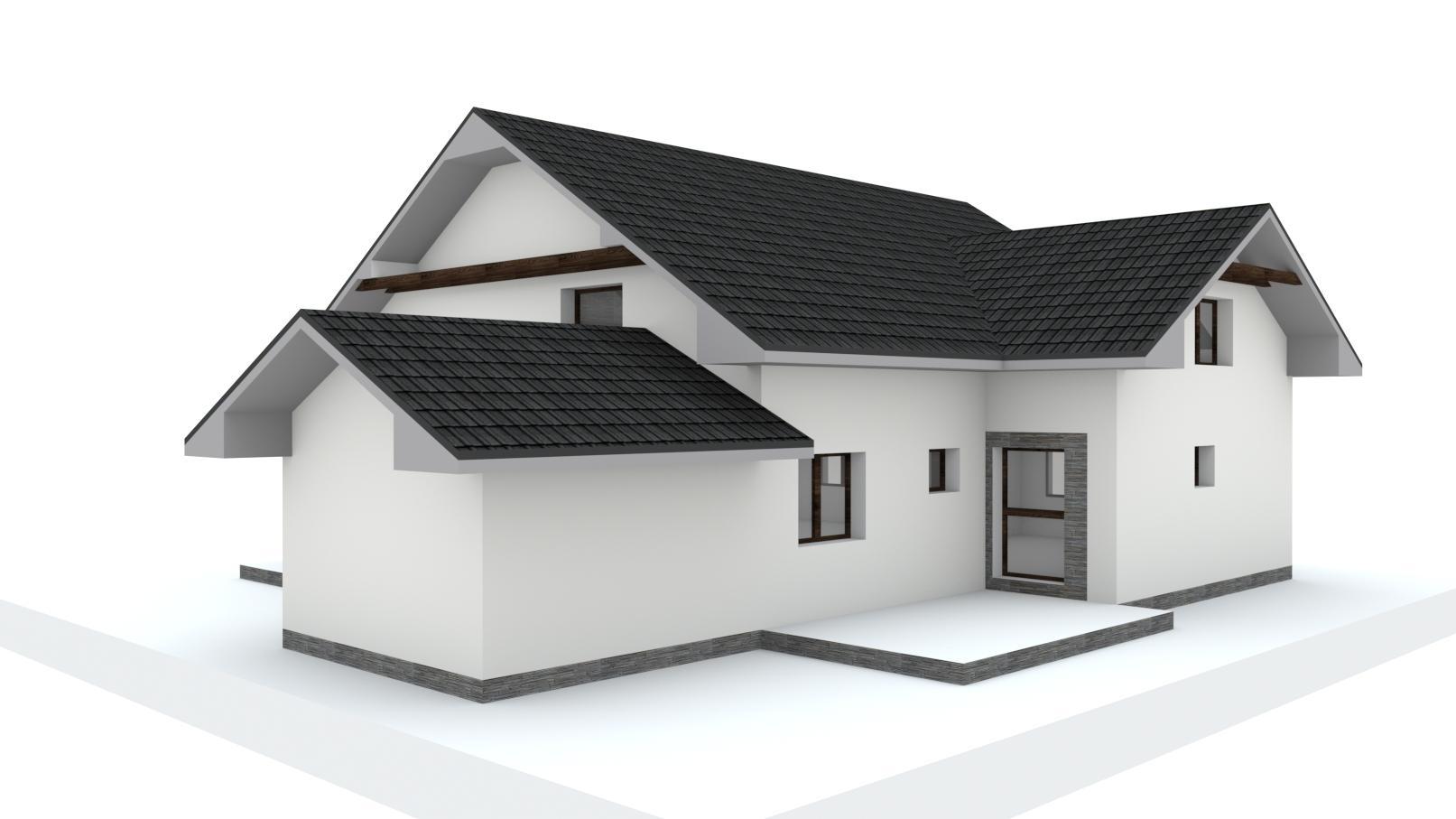 Návrh fasády, oprotenia, chodníkov a záhrady rodinného domu - Obrázok č. 16