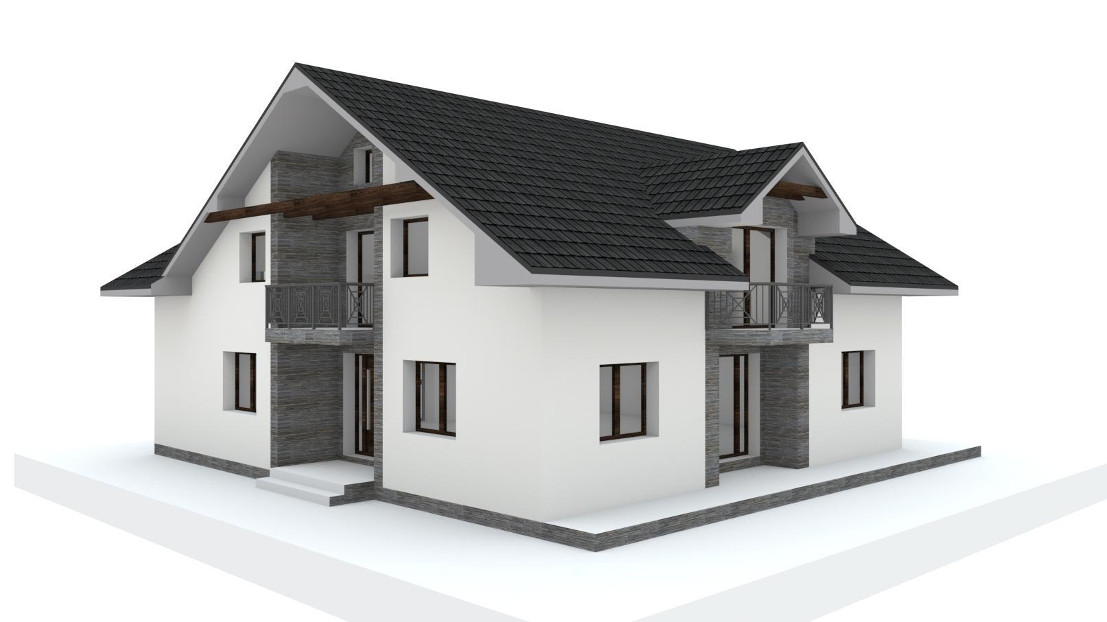 Návrh fasády, oprotenia, chodníkov a záhrady rodinného domu - Obrázok č. 15