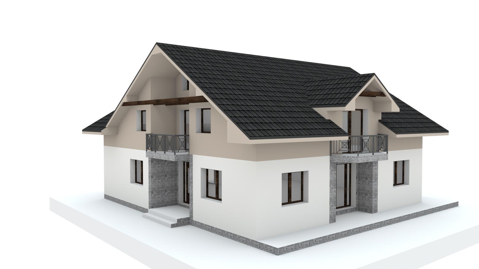 Návrh fasády, oprotenia, chodníkov a záhrady rodinného domu - Obrázok č. 19