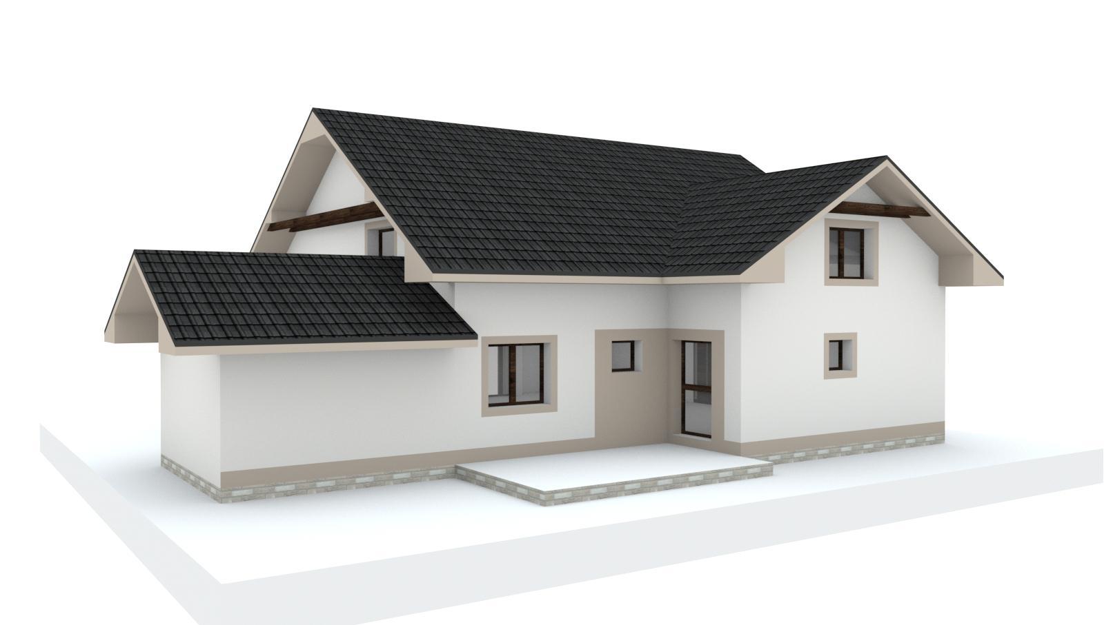 Návrh fasády, oprotenia, chodníkov a záhrady rodinného domu - Obrázok č. 29