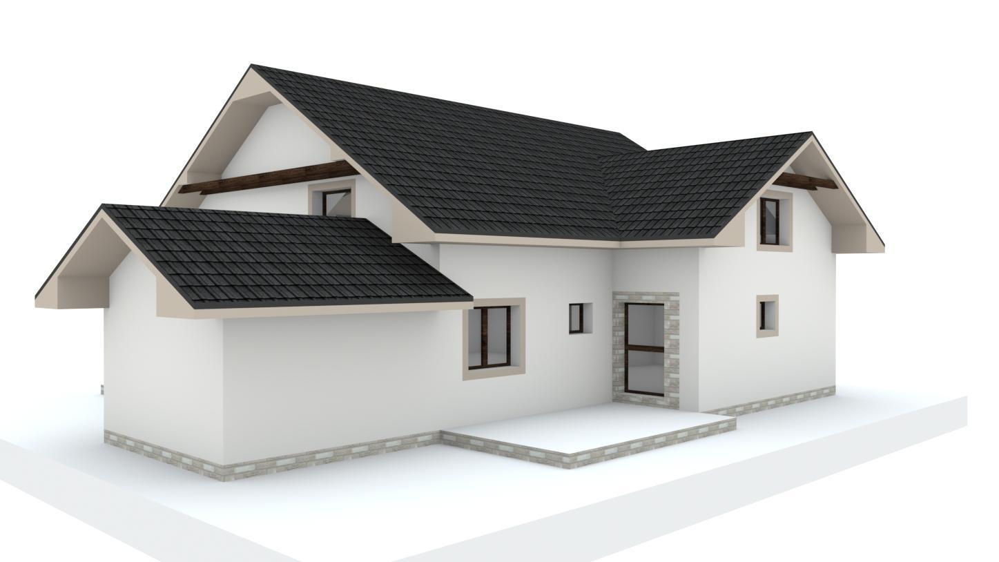 Návrh fasády, oprotenia, chodníkov a záhrady rodinného domu - Obrázok č. 26