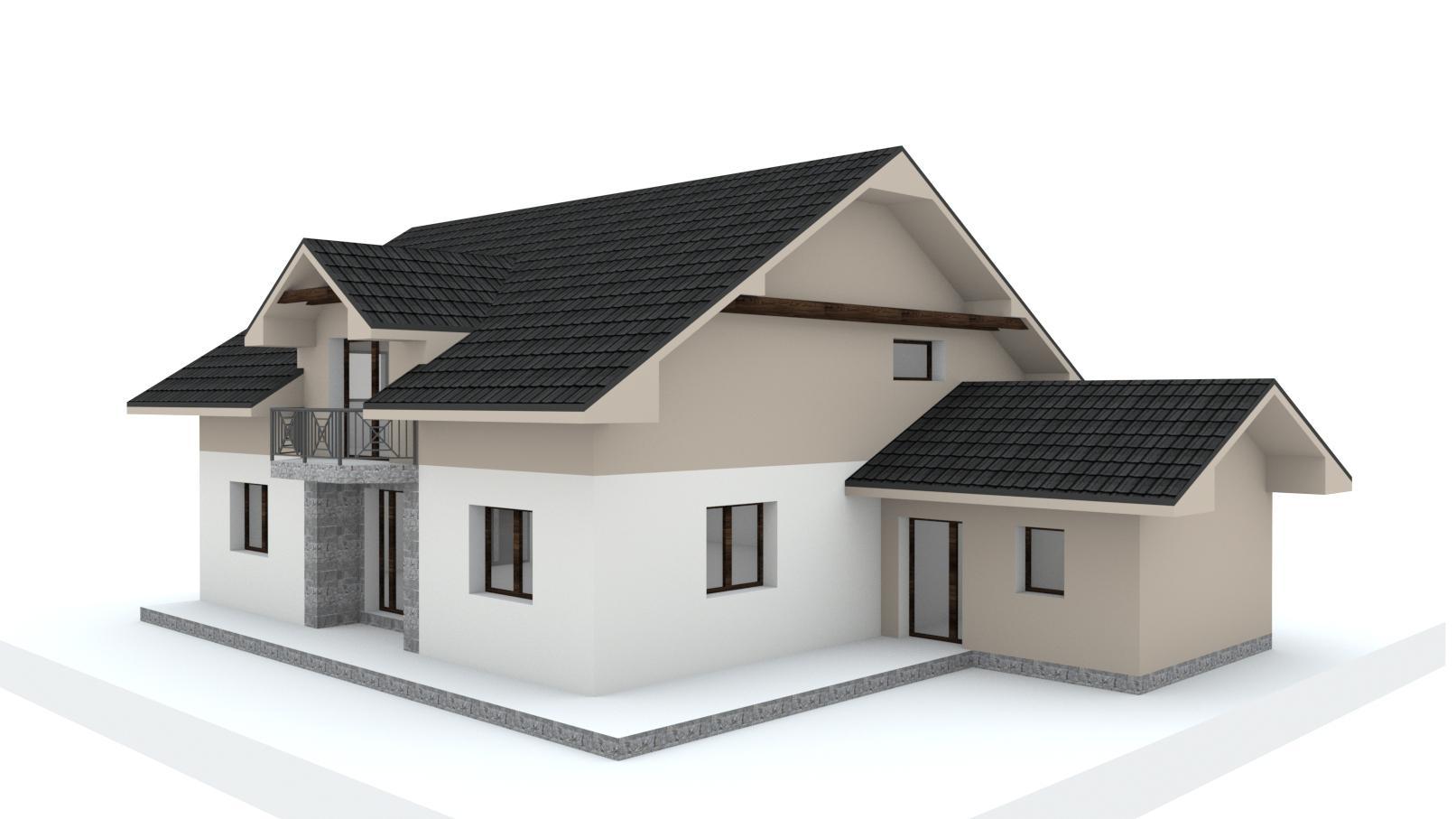 Návrh fasády, oprotenia, chodníkov a záhrady rodinného domu - Obrázok č. 20