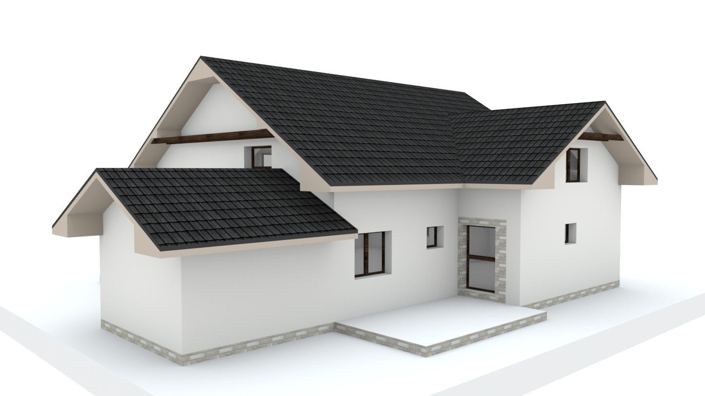 Návrh fasády, oprotenia, chodníkov a záhrady rodinného domu - Obrázok č. 22