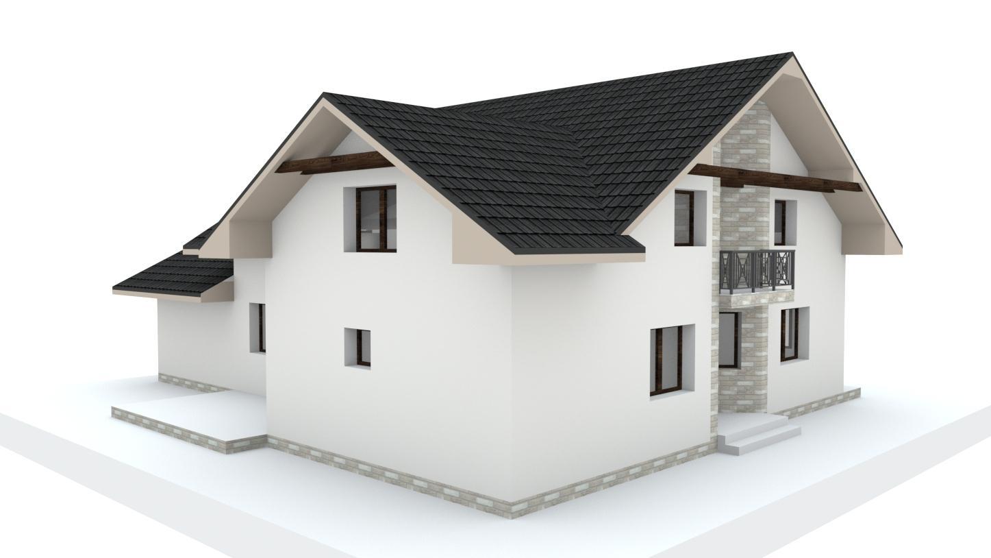 Návrh fasády, oprotenia, chodníkov a záhrady rodinného domu - Obrázok č. 23
